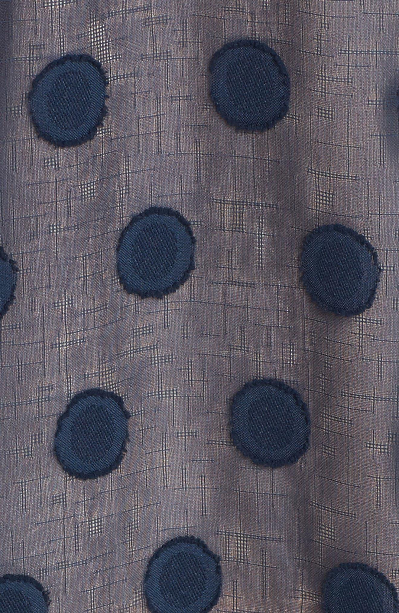 Alexis Dot Jacquard Maxi Dress,                             Alternate thumbnail 5, color,                             Navy