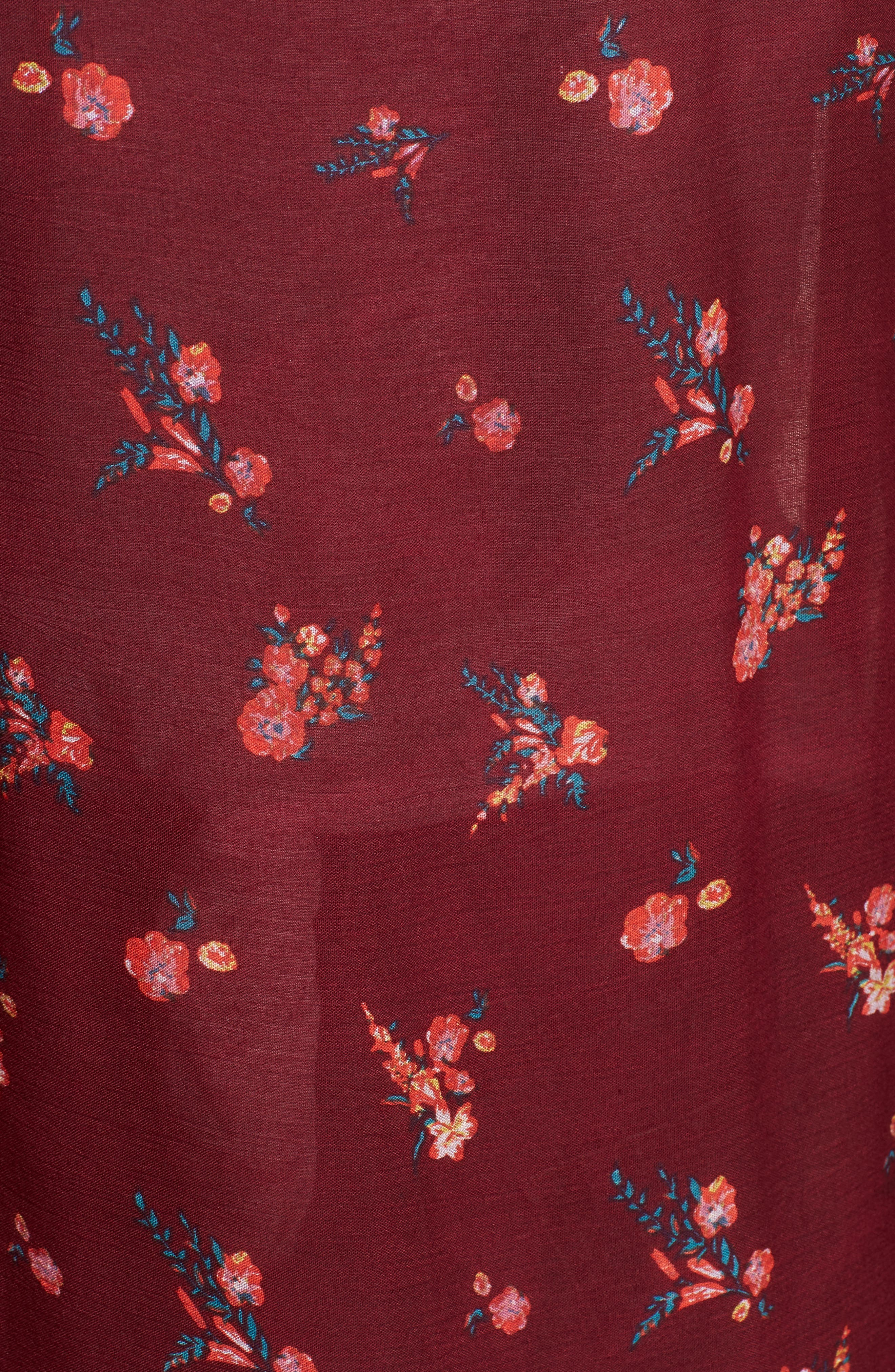 Bali Wrapped In Blooms Shawl,                             Alternate thumbnail 5, color,                             Red Combo