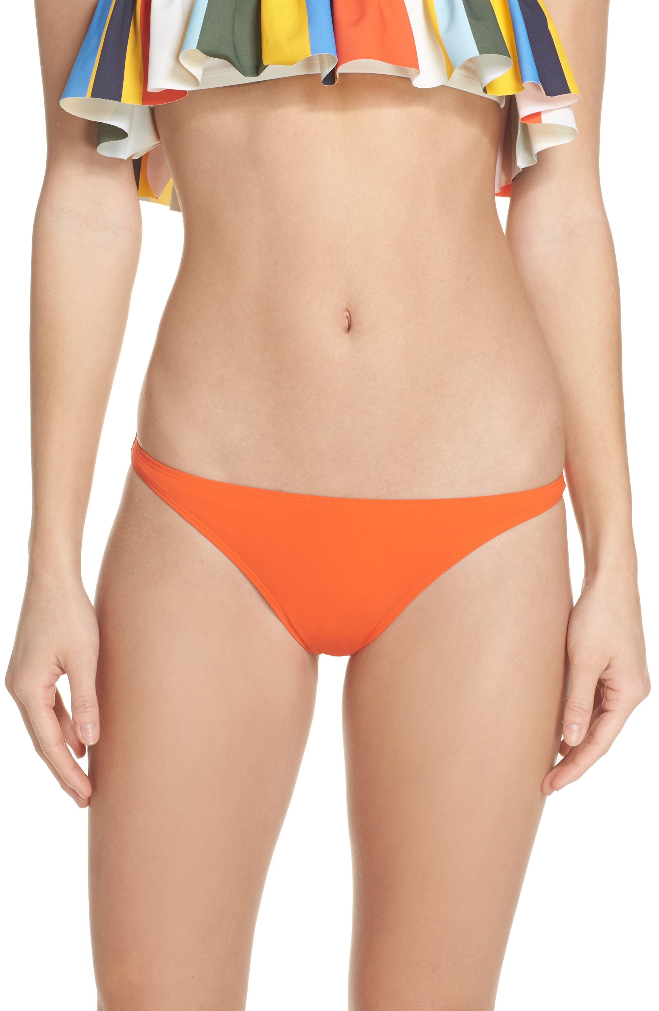Hipster Bikini Bottoms,                         Main,                         color, Sweet Tangerine