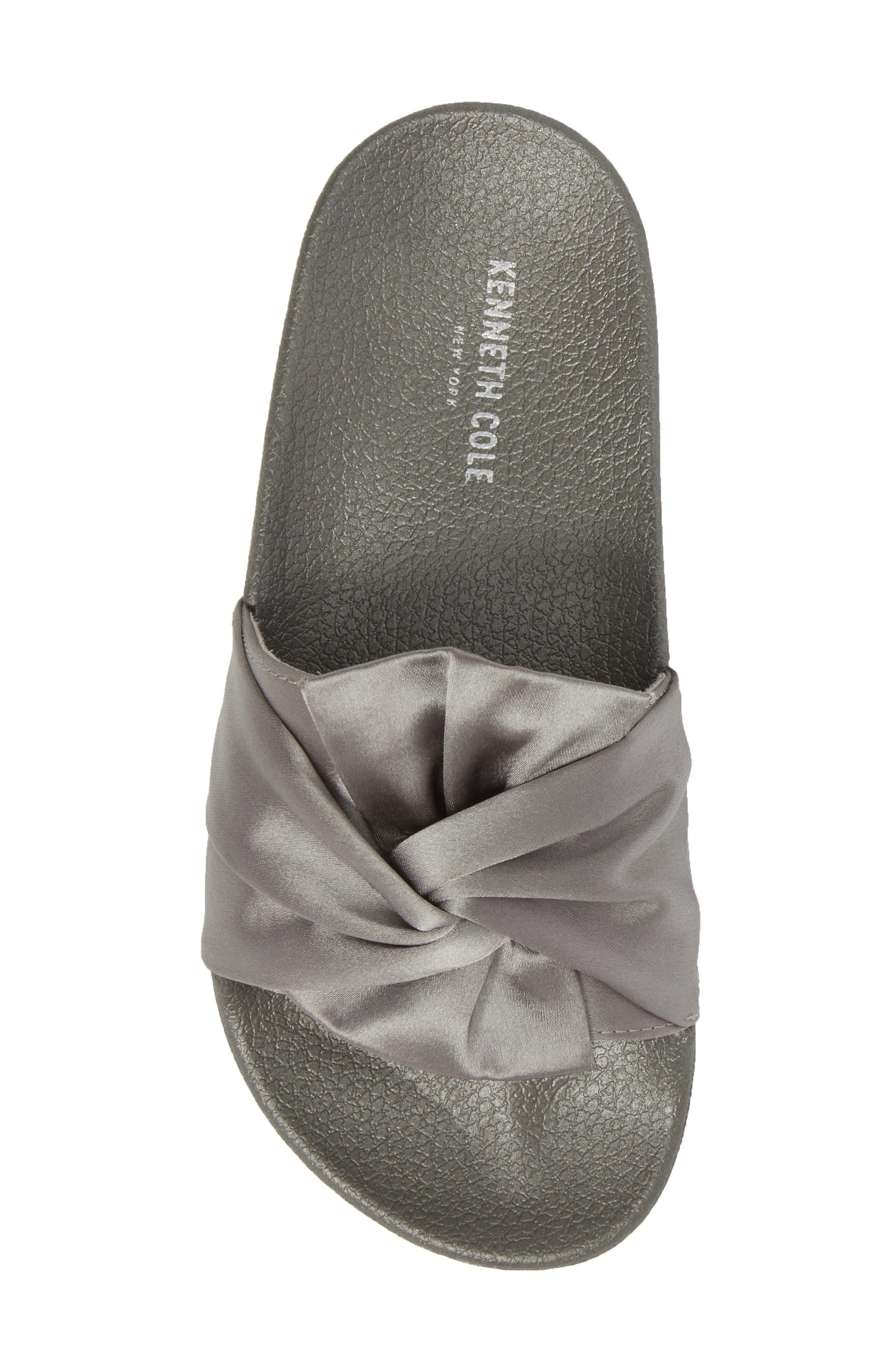 Shower Twist Slide Sandal,                             Alternate thumbnail 5, color,                             Gray