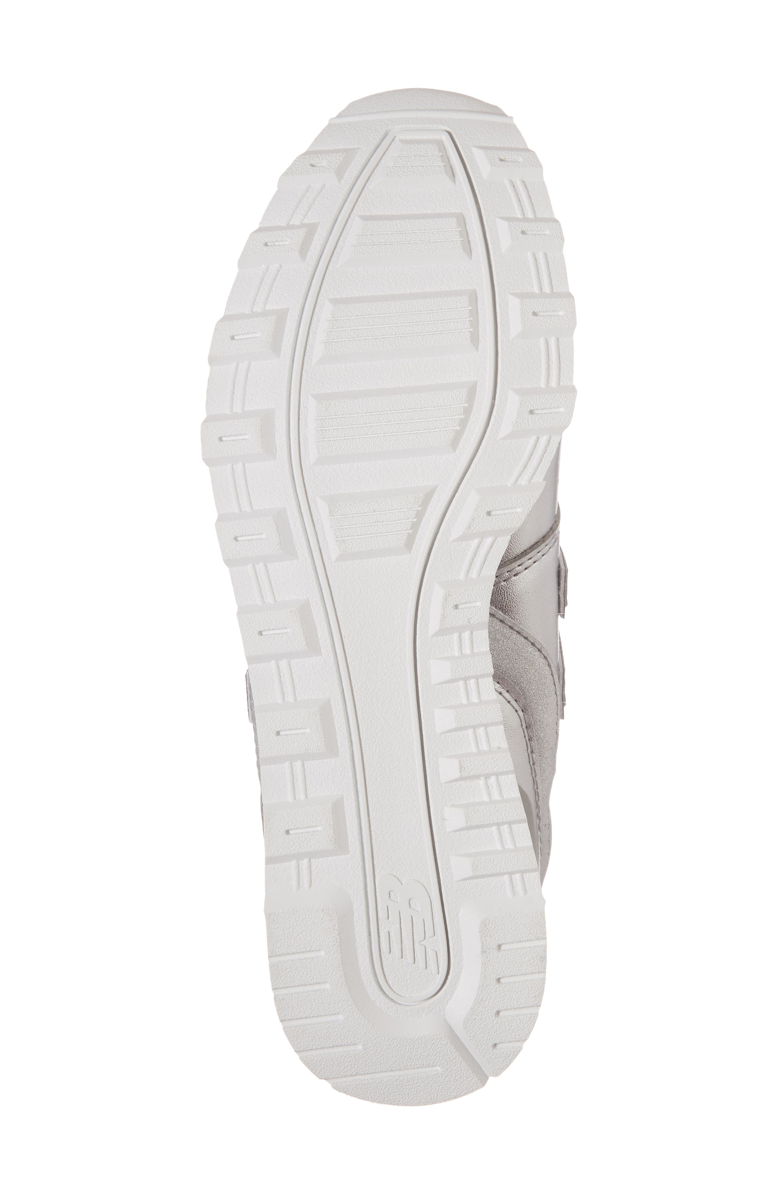 696 Sneaker,                             Alternate thumbnail 6, color,                             Metallic Silver