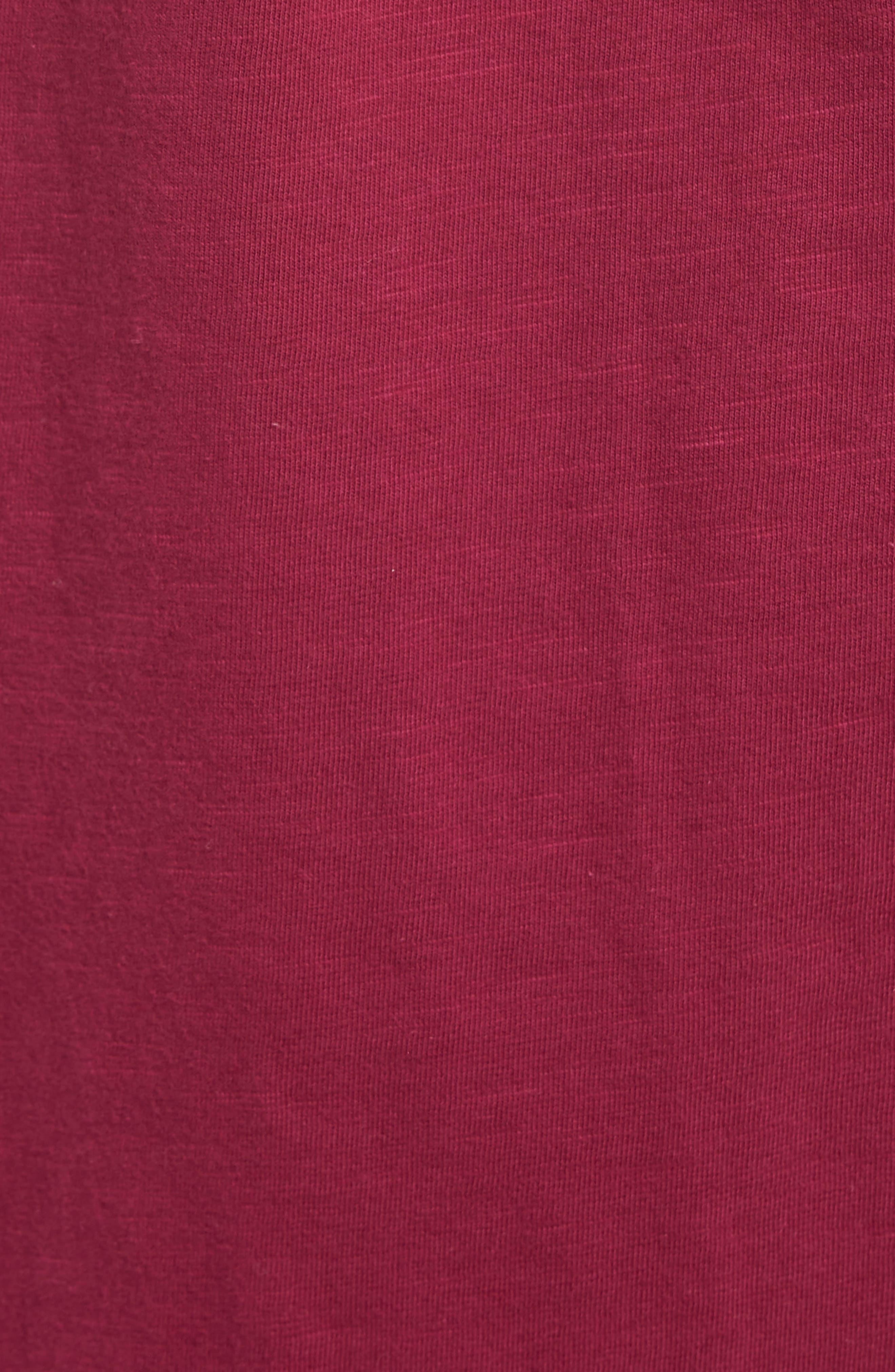 Tie Front Cotton Maxi Skirt,                             Alternate thumbnail 5, color,                             Purple Fuchsia