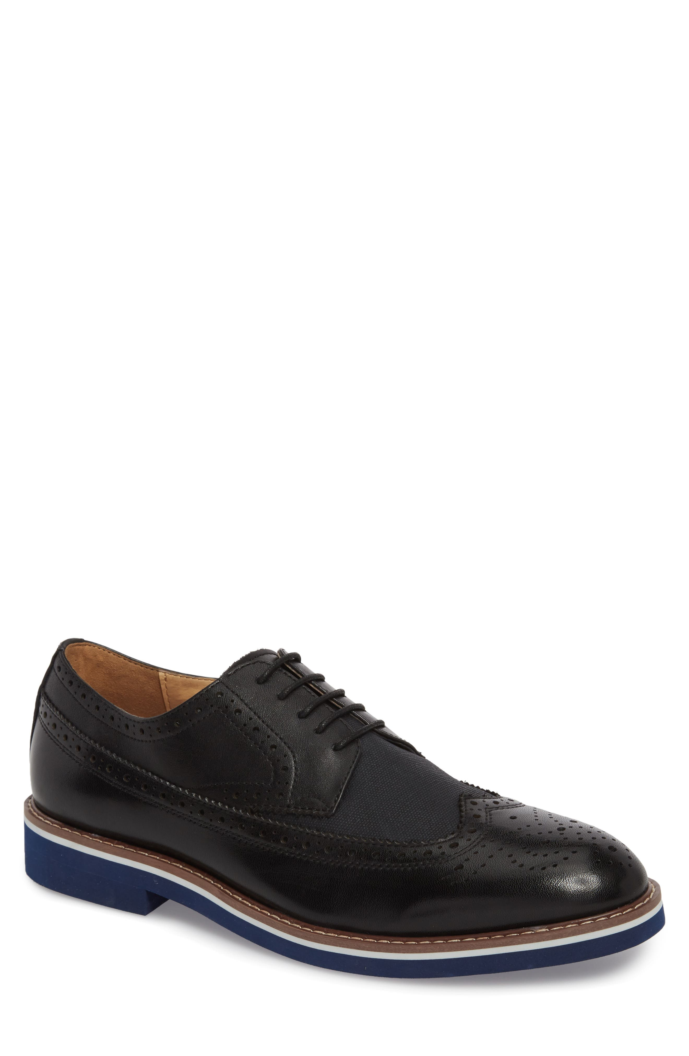 Balham Wingtip,                         Main,                         color, Black Leather