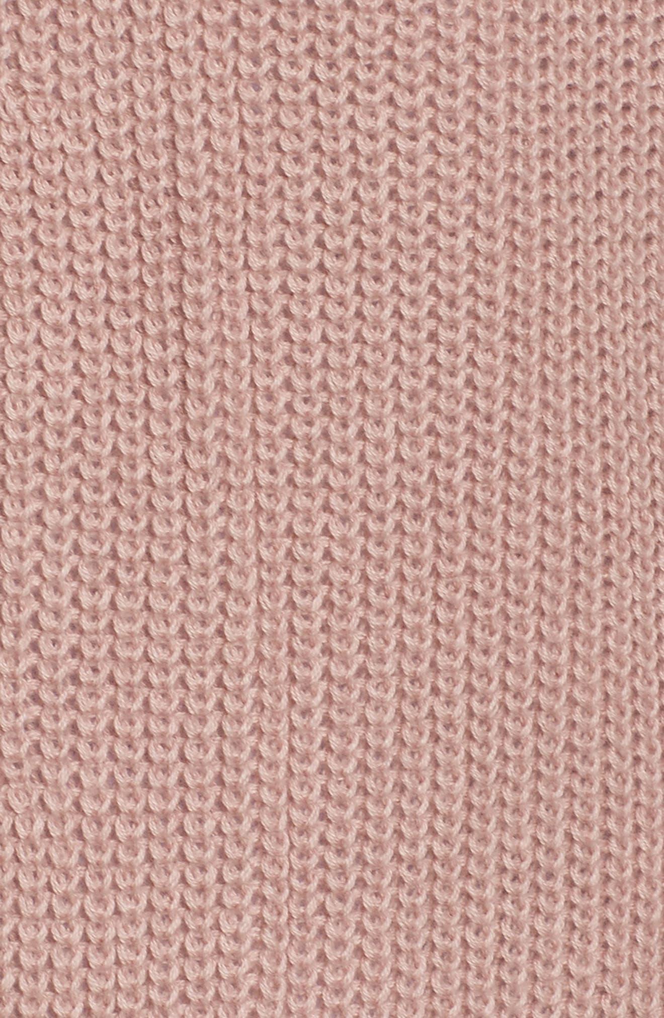 Sweater Knit Cardigan,                             Alternate thumbnail 6, color,                             Pink Adobe