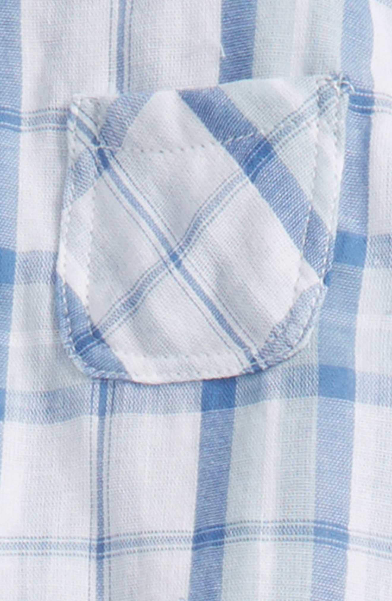Mixed Plaid Top & Pants Set,                             Alternate thumbnail 2, color,                             Blue
