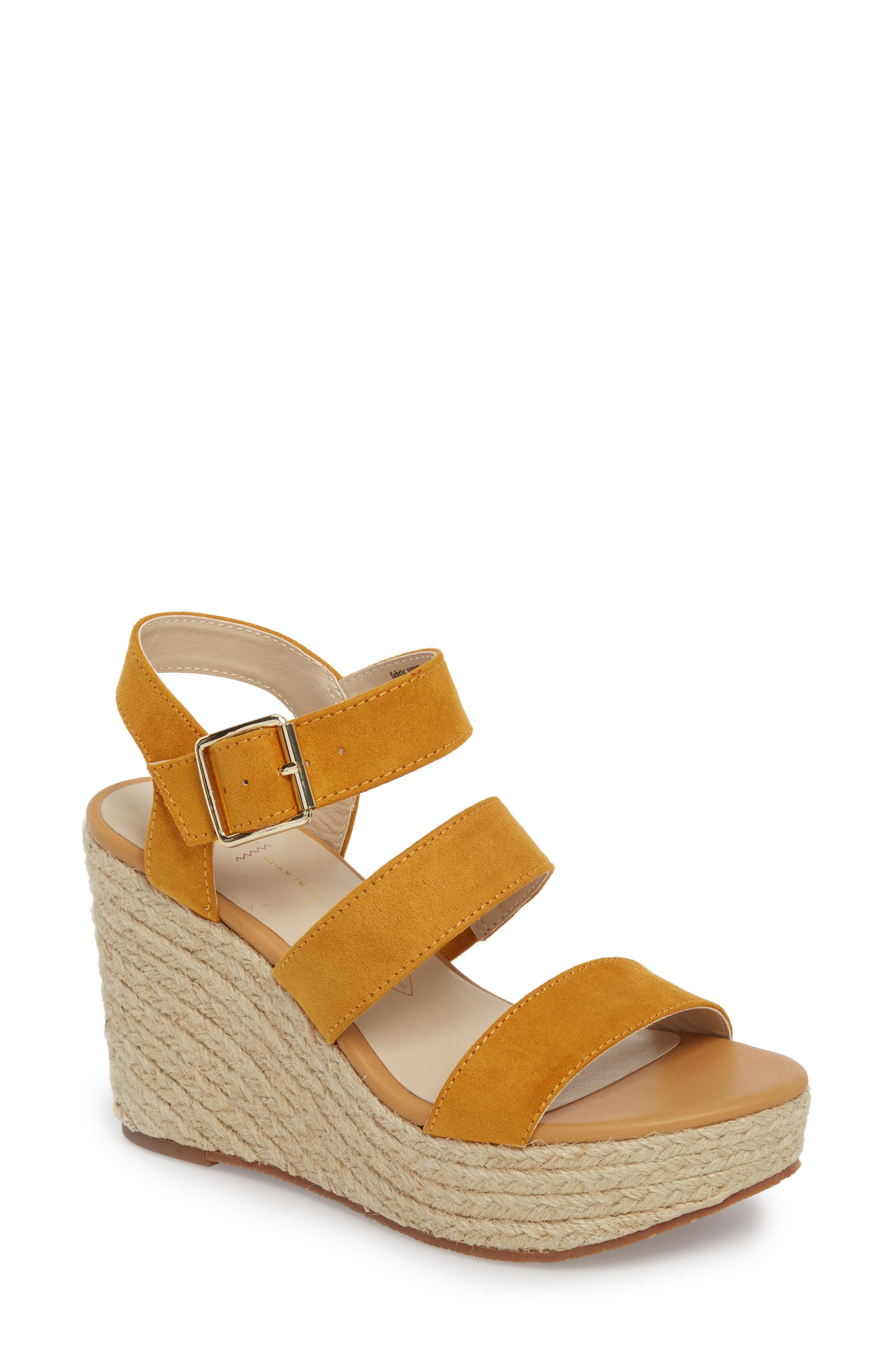 Snack Bar Espadrille Wedge Sandal,                         Main,                         color, Taupe Suede