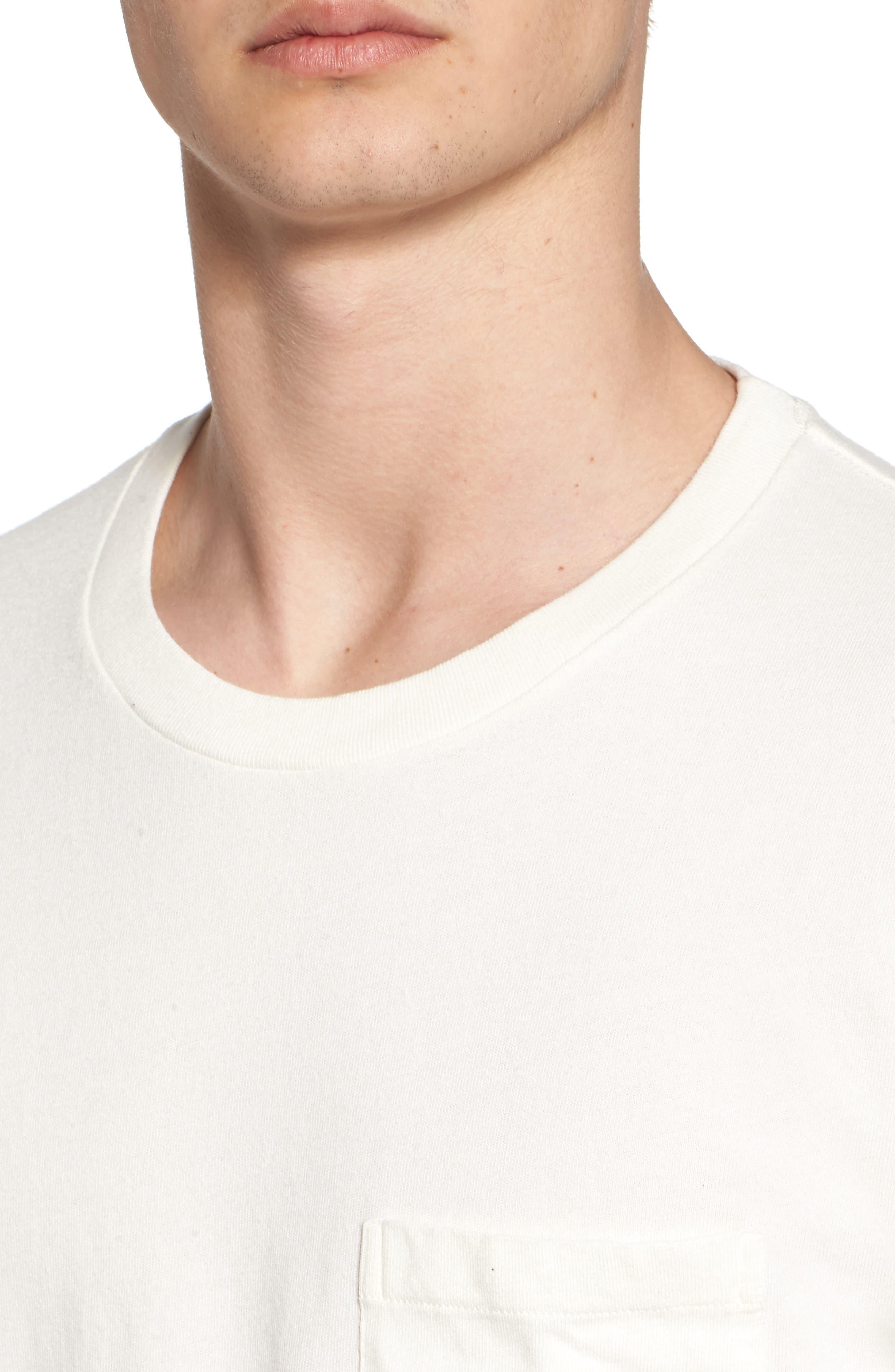 1950s Sportswear Pocket T-Shirt,                             Alternate thumbnail 4, color,                             White