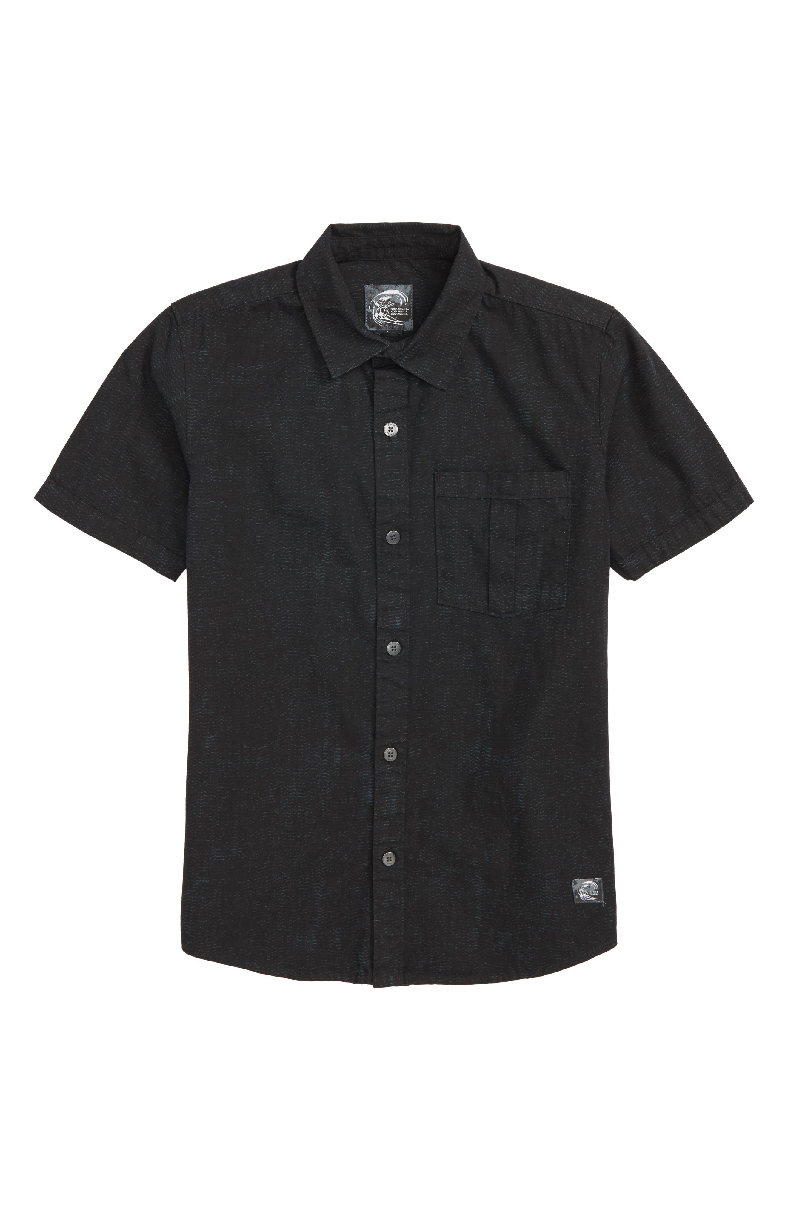 Untitled Woven Shirt,                         Main,                         color, Black
