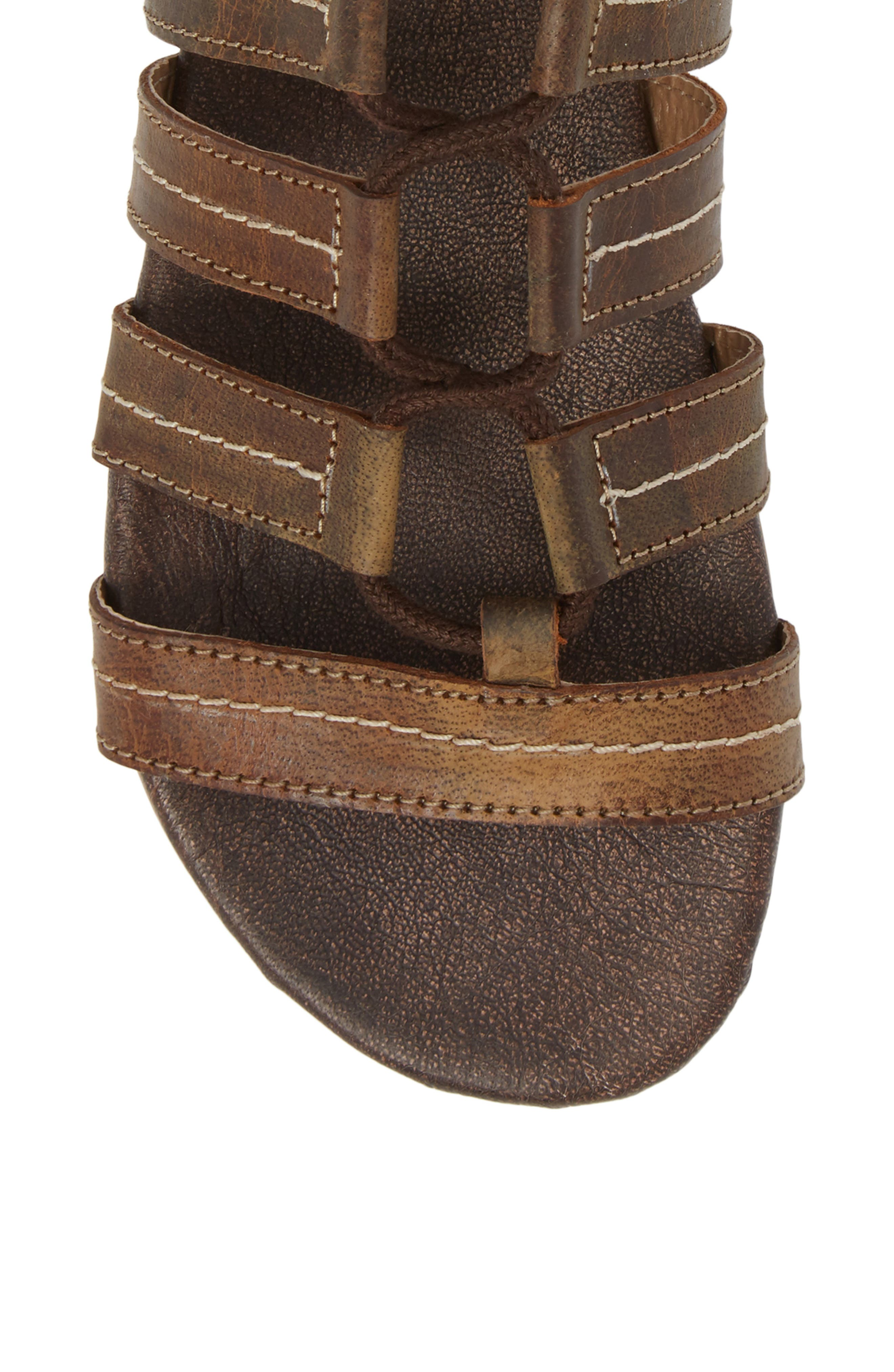 Rhea Lace-Up Gladiator Sandal,                             Alternate thumbnail 5, color,                             Tan Greenland