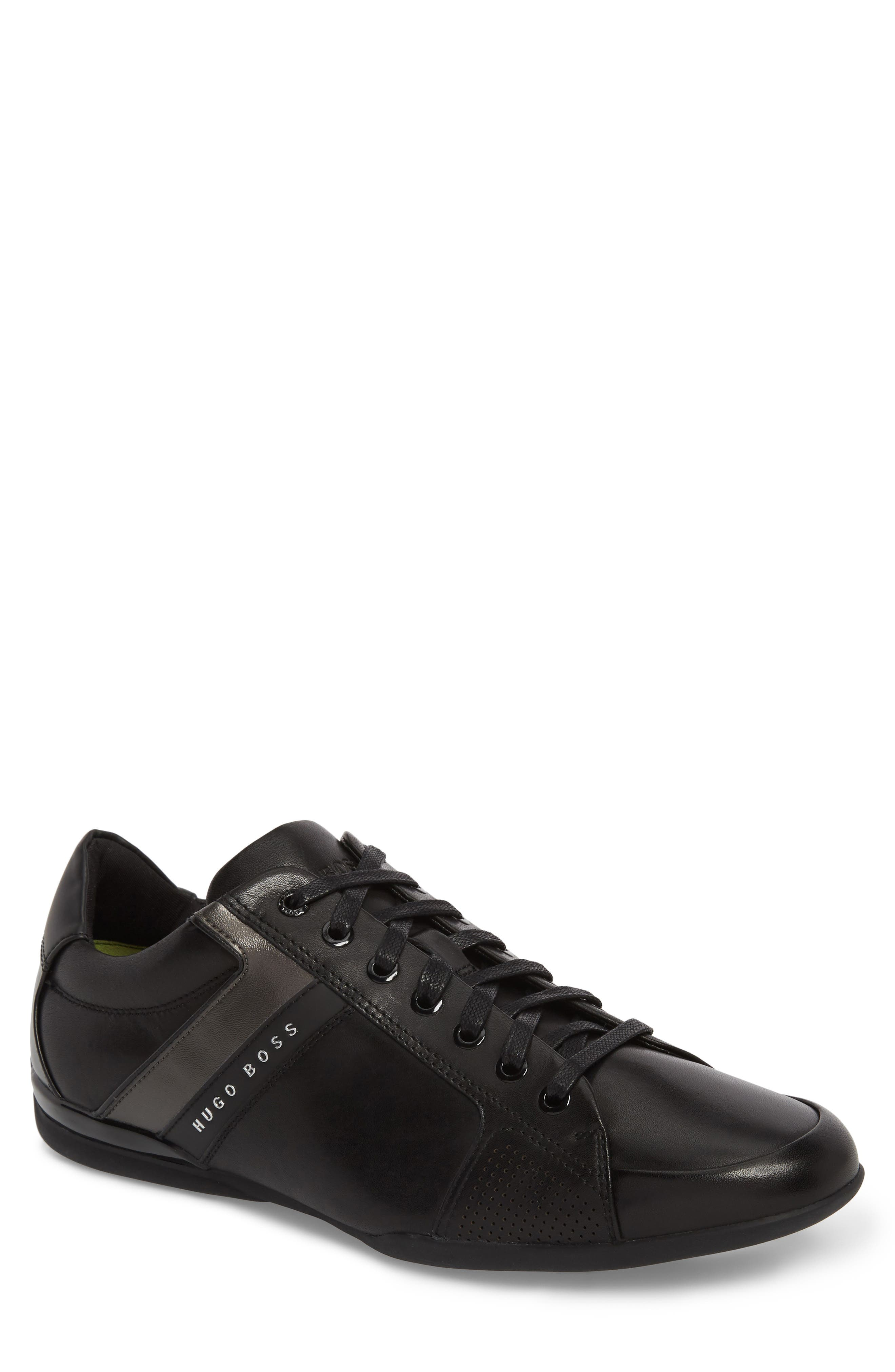 Space Lowp Lux Sneaker,                             Main thumbnail 1, color,                             Black Leather