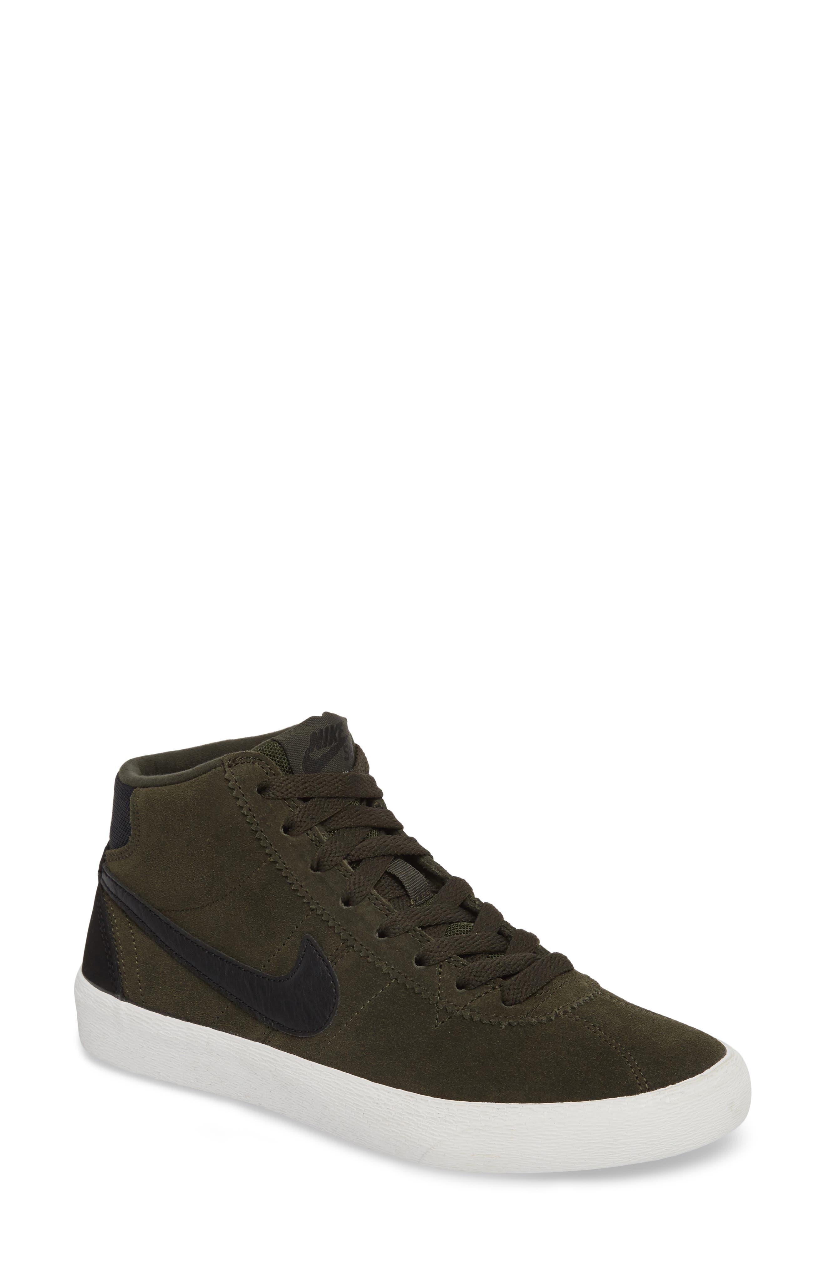 SB Bruin Hi Skateboarding Sneaker,                         Main,                         color, Sequoia/ Black/ Summit White