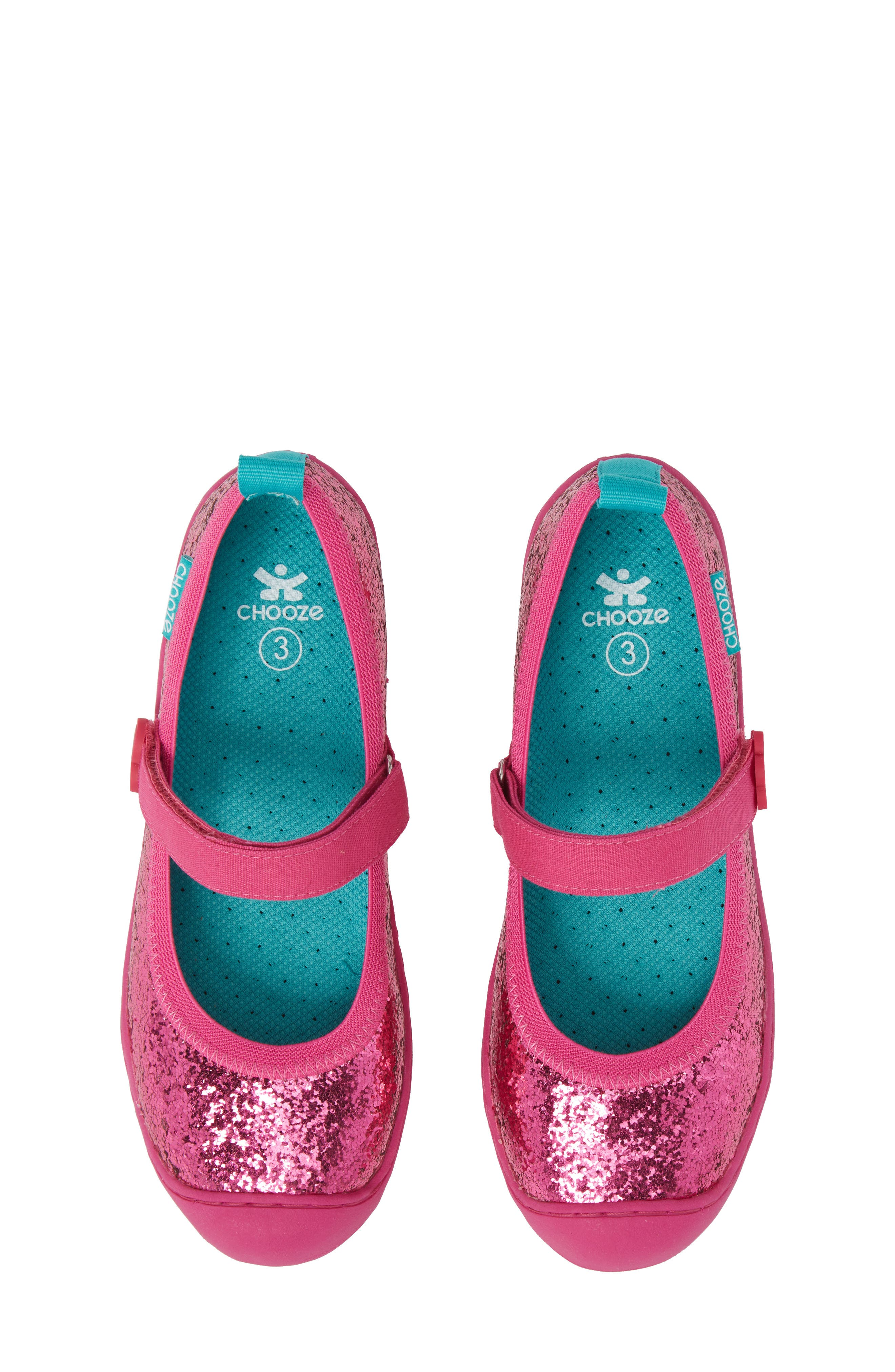 CHOOZE Steady Shimmer Mary Jane Sneaker (Baby, Walker, Toddler & Little Kid)