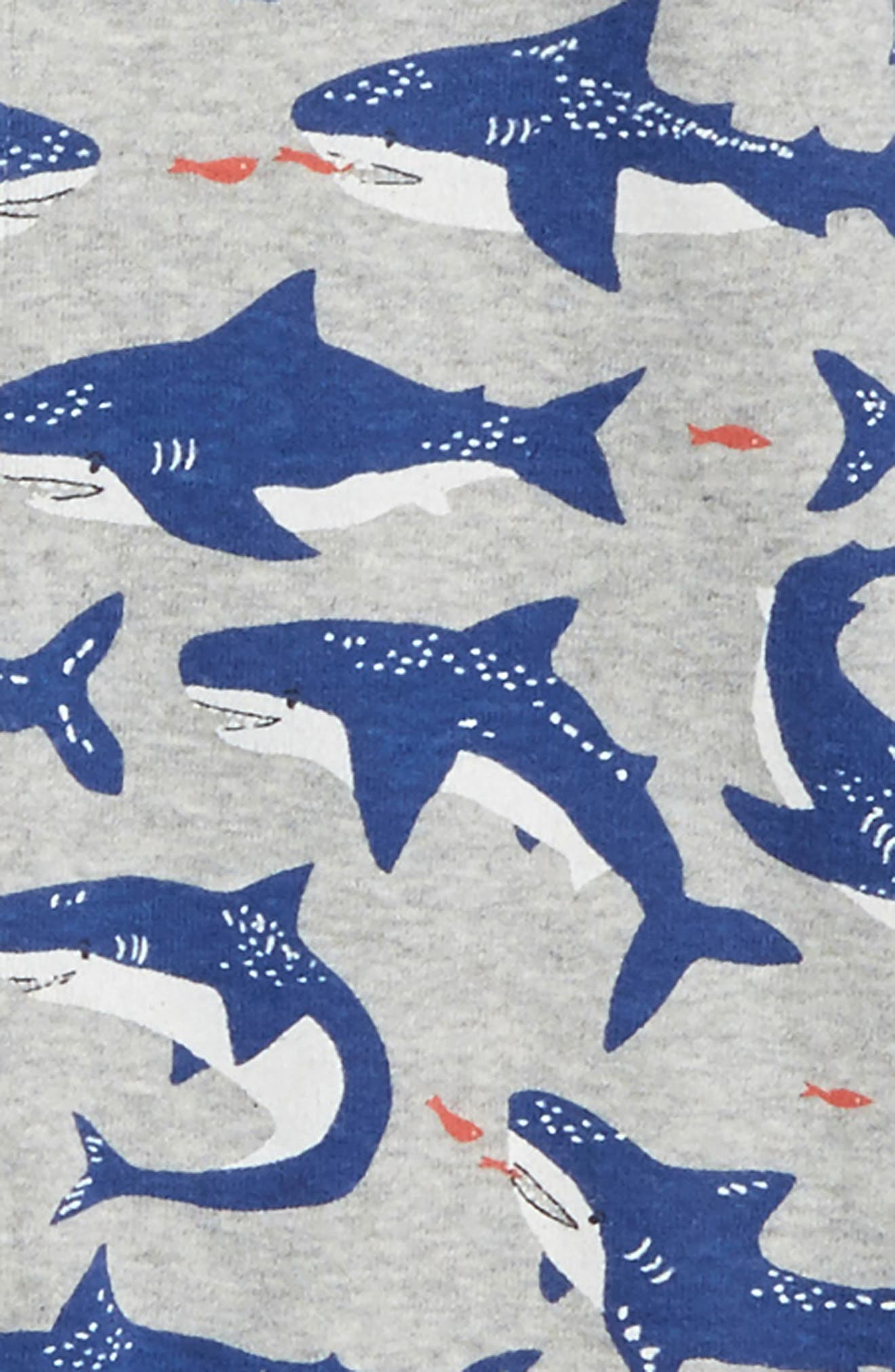 2-Pack Rompers,                             Alternate thumbnail 2, color,                             Grey Marl Sharks