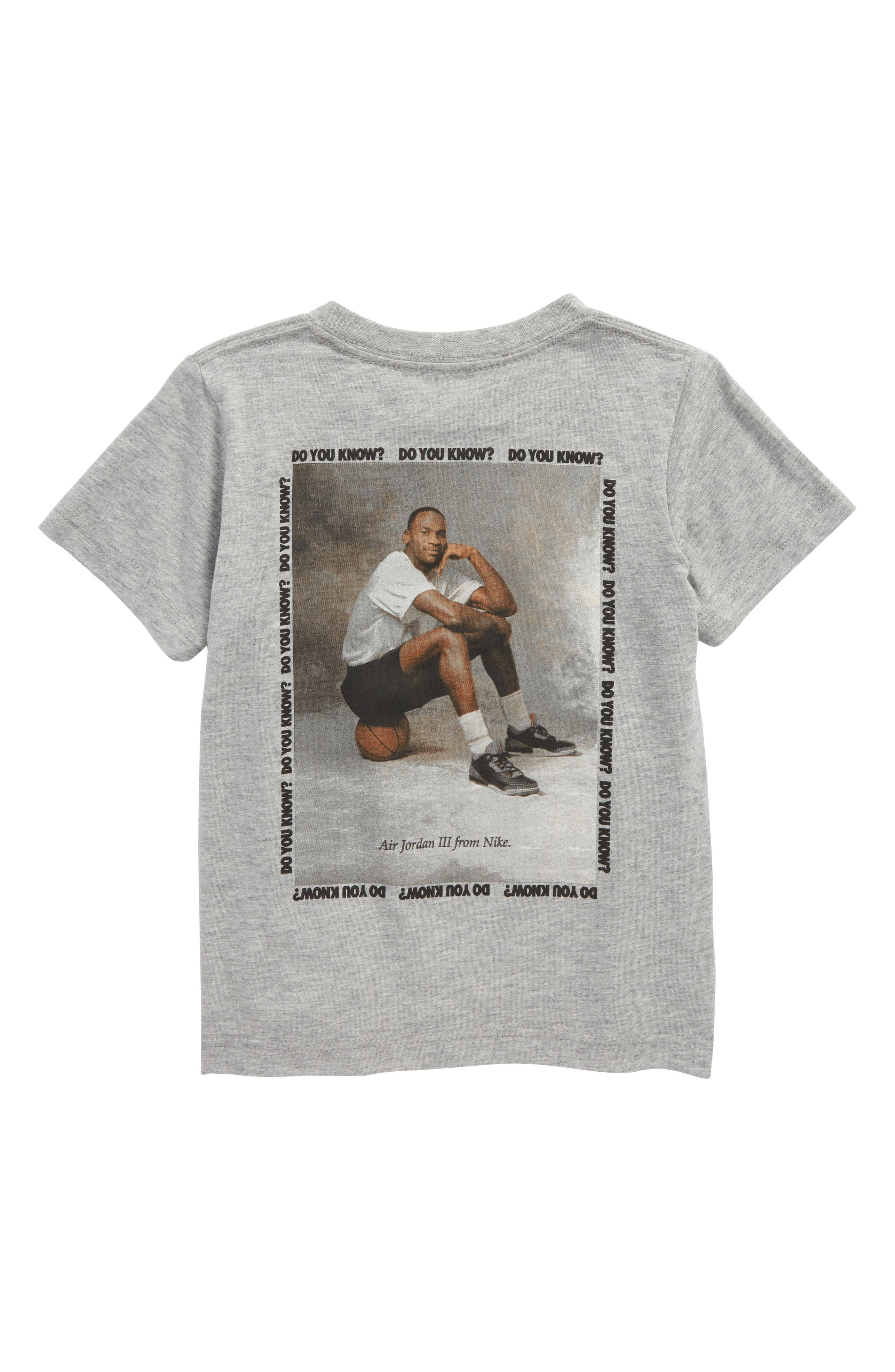 Jordan AJ3 Photo Graphic T-Shirt,                             Alternate thumbnail 2, color,                             Carbon Heather