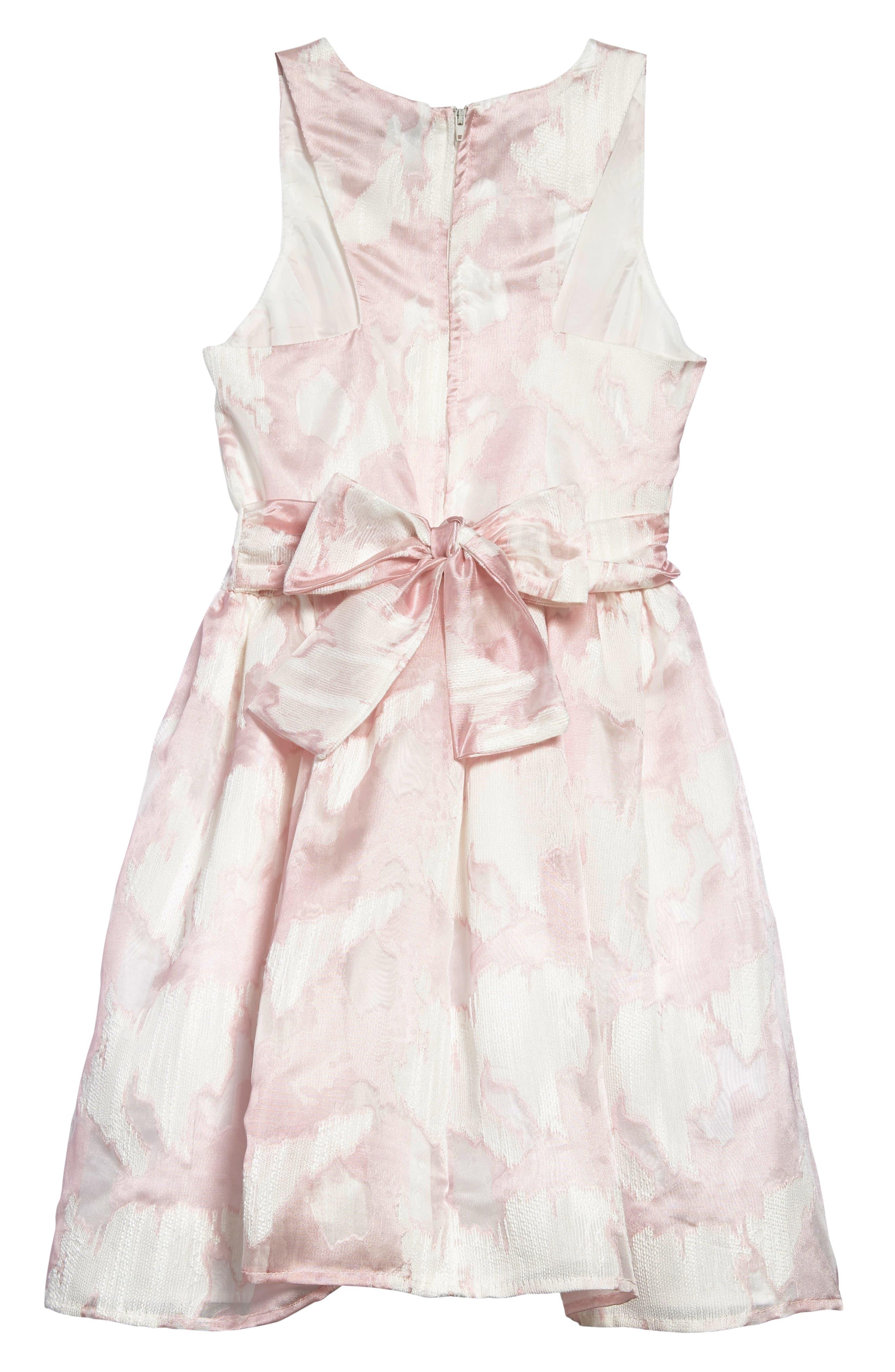Chiffon Party Dress,                             Alternate thumbnail 2, color,                             Pink/ White