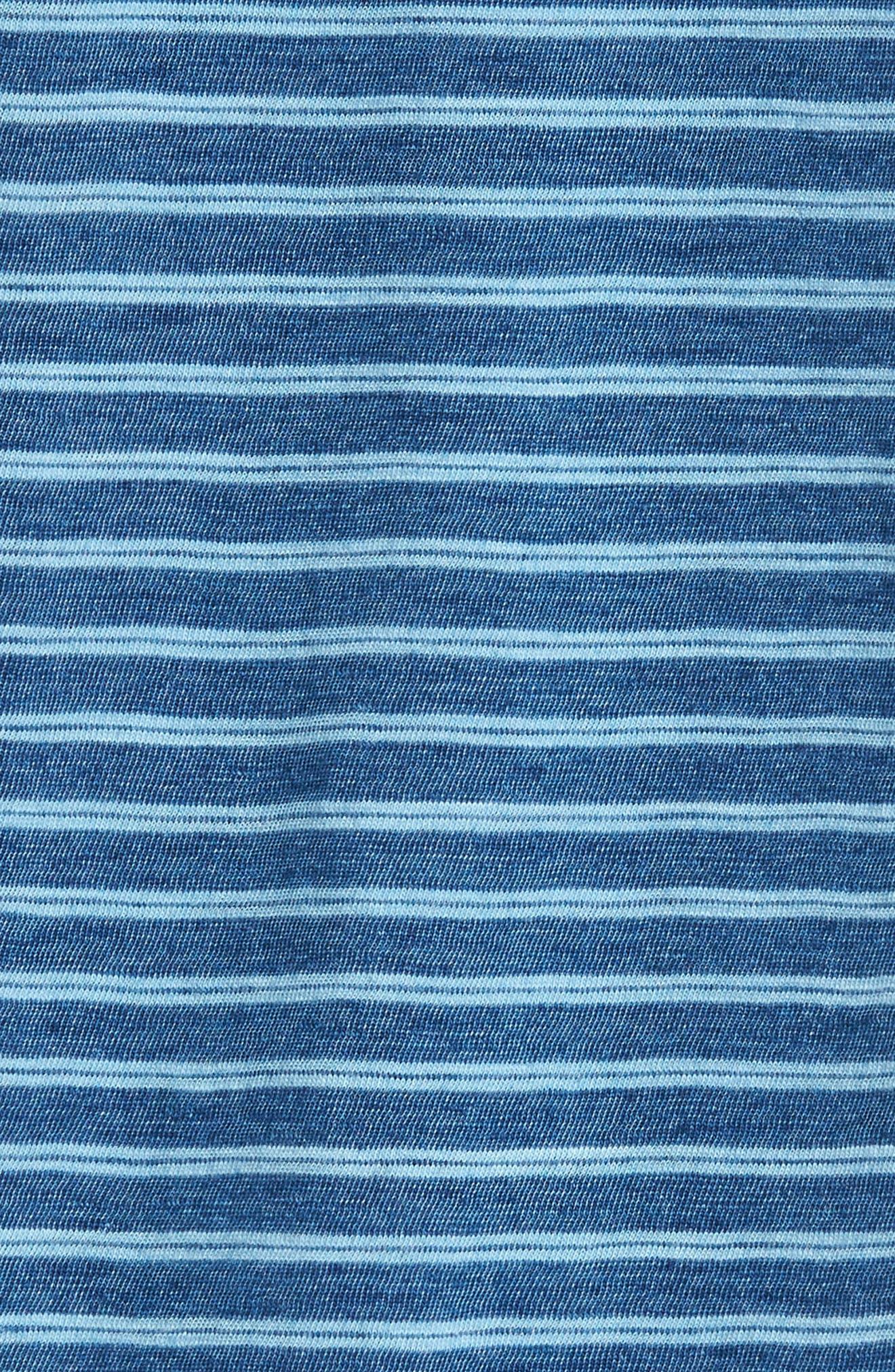 Stripe Jersey Polo,                             Alternate thumbnail 5, color,                             Indigo