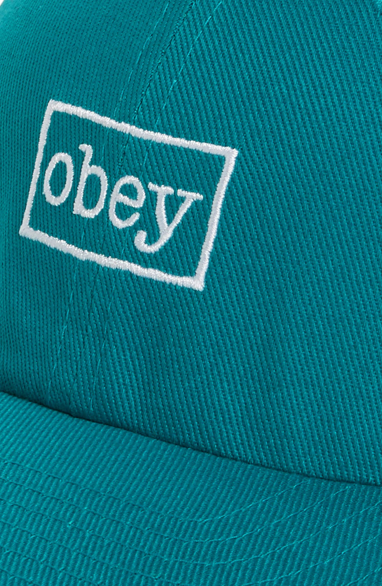 Outline Snapback Cap,                             Alternate thumbnail 3, color,                             Teal