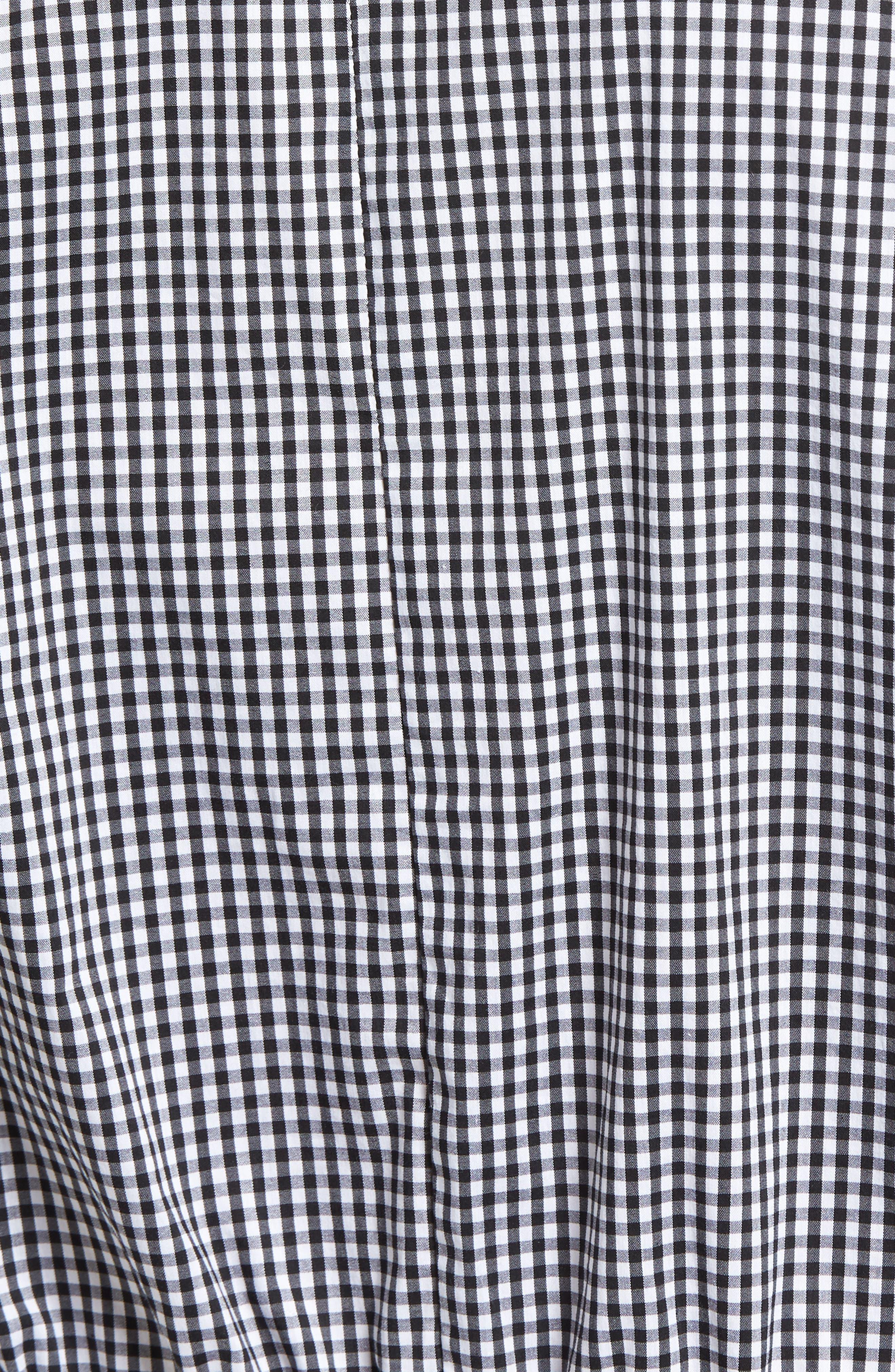 Bishop + Young Ruched Sleeve Blouse,                             Alternate thumbnail 5, color,                             Gingham