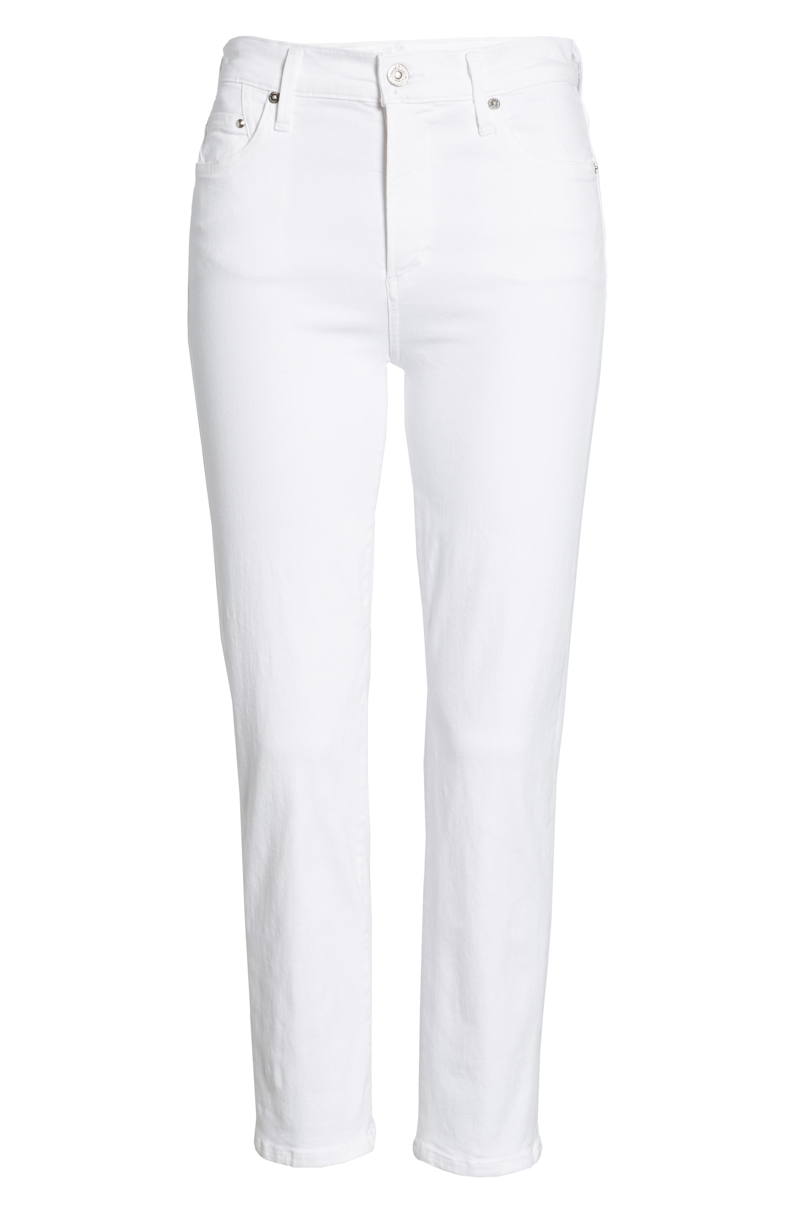 Alternate Image 6  - Citizens of Humanity Cara Ankle Cigarette Jeans (Sculpt White)