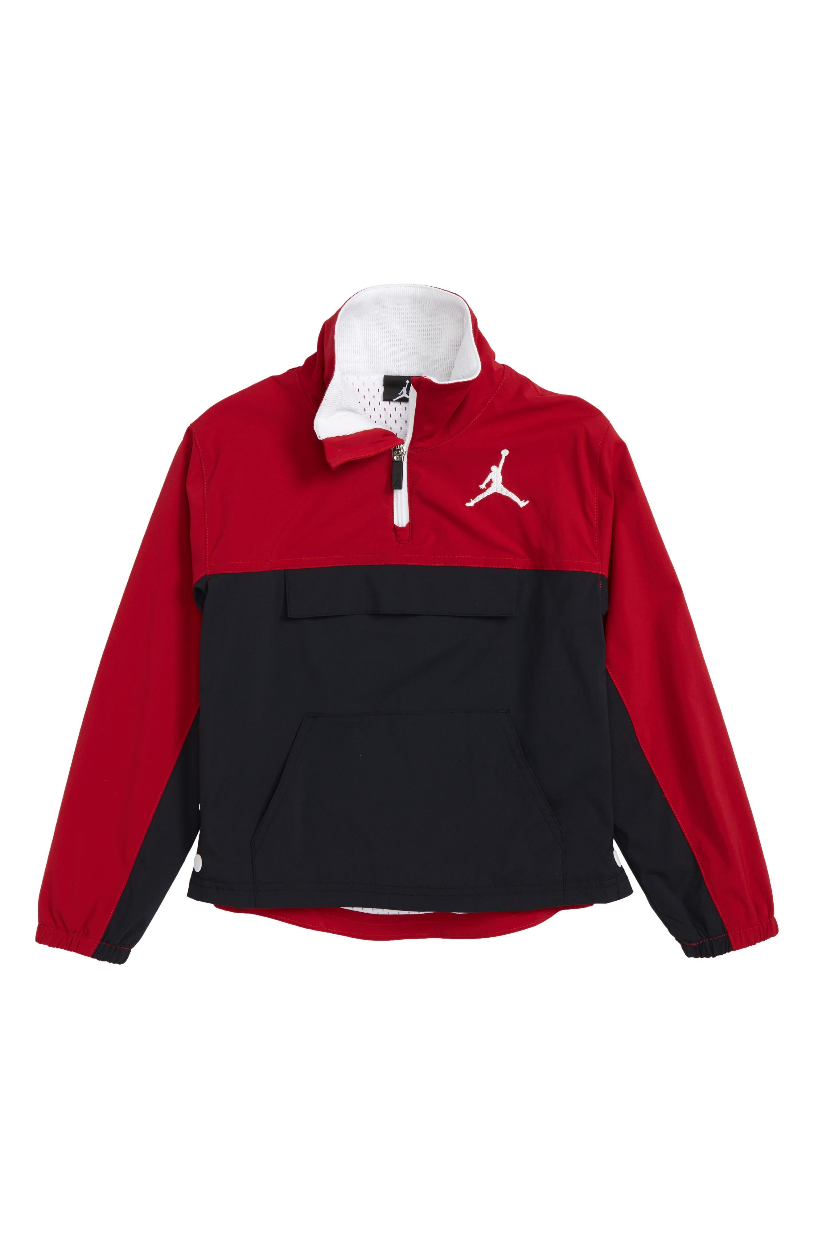 Jordan AJ '90s Popover Quarter Zip Pullover,                         Main,                         color, Black