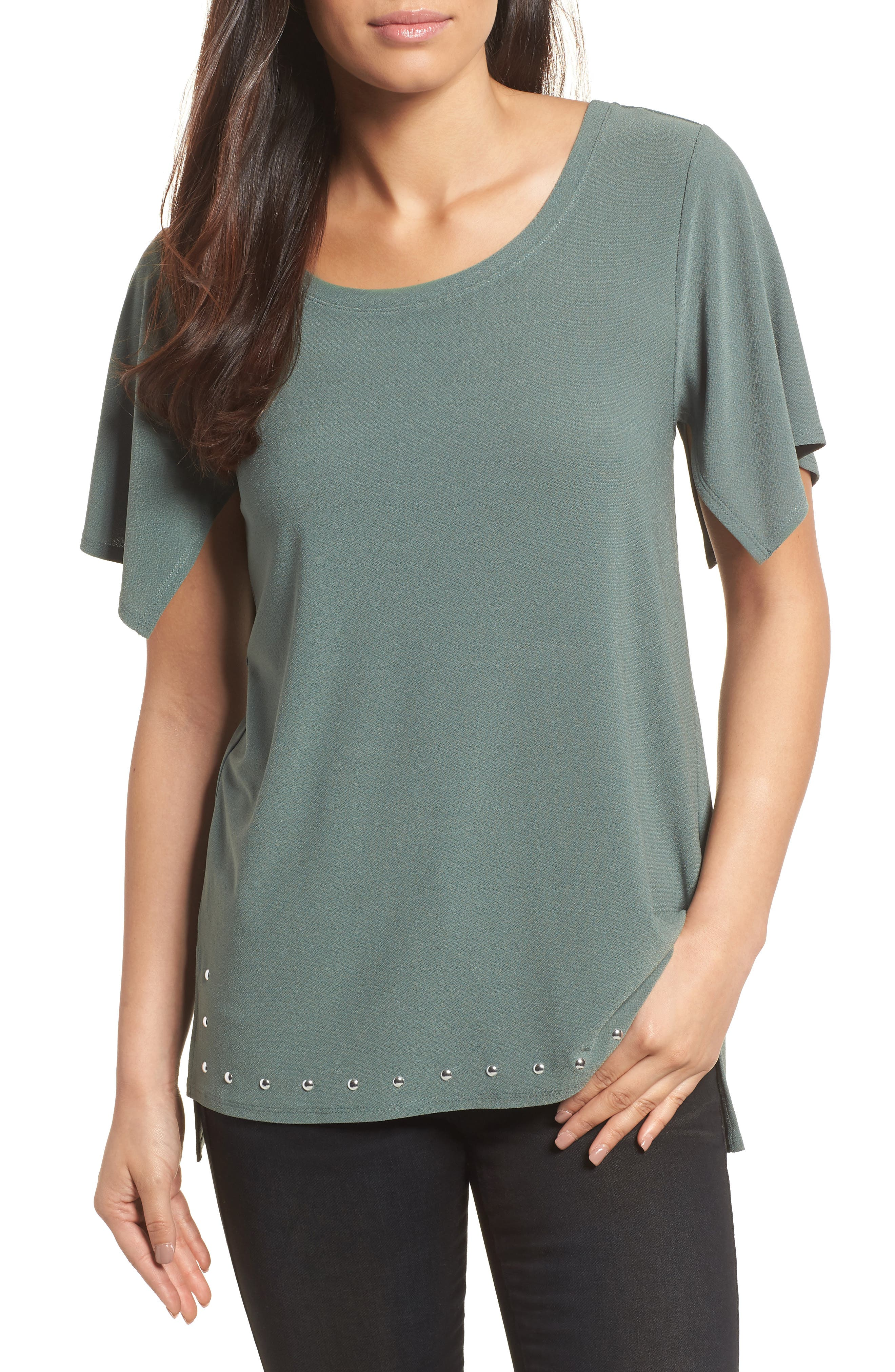 Chaus Rivet Split Sleeve Top