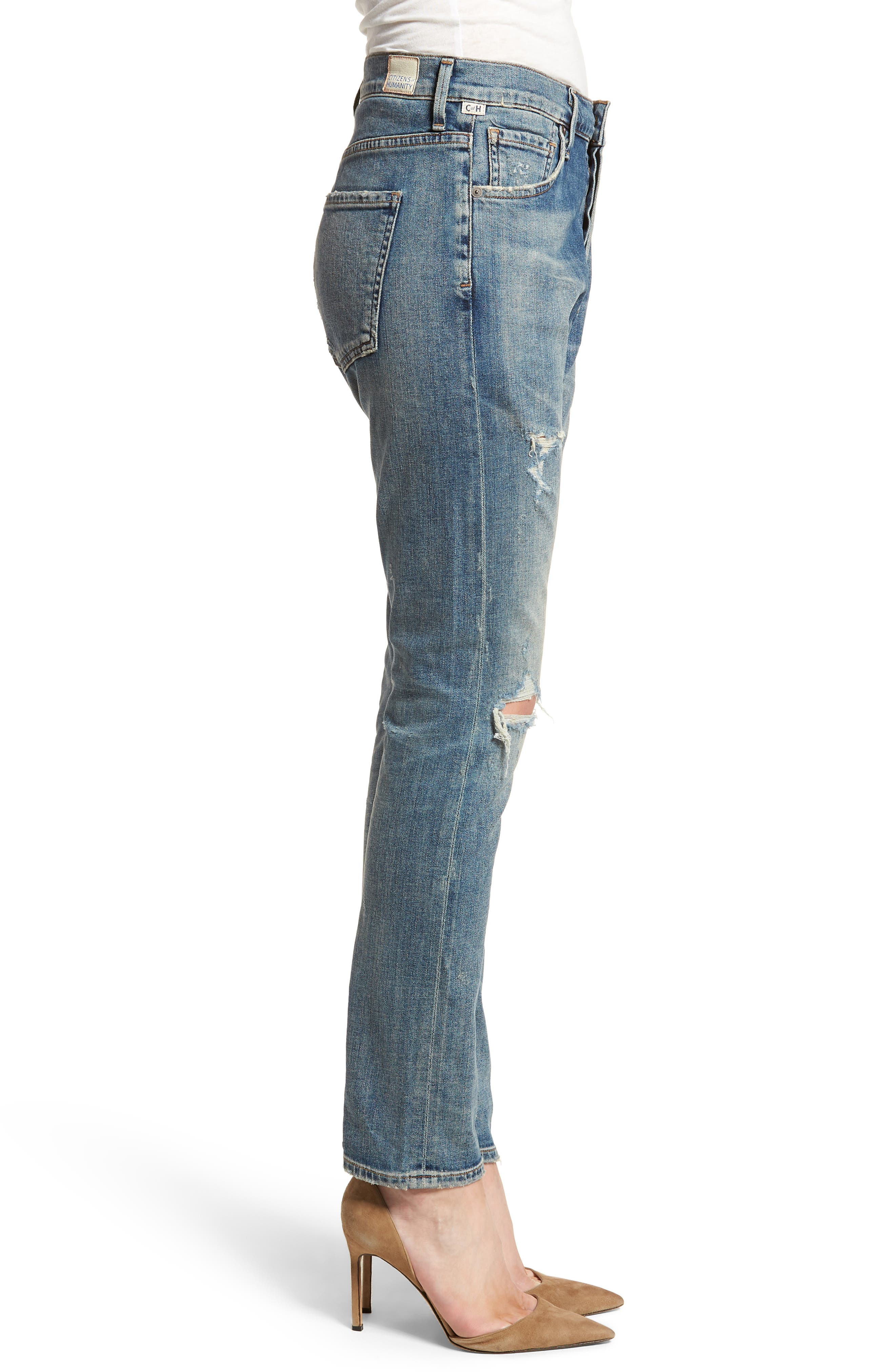 Corey Slouchy Slim Jeans,                             Alternate thumbnail 3, color,                             Outpost