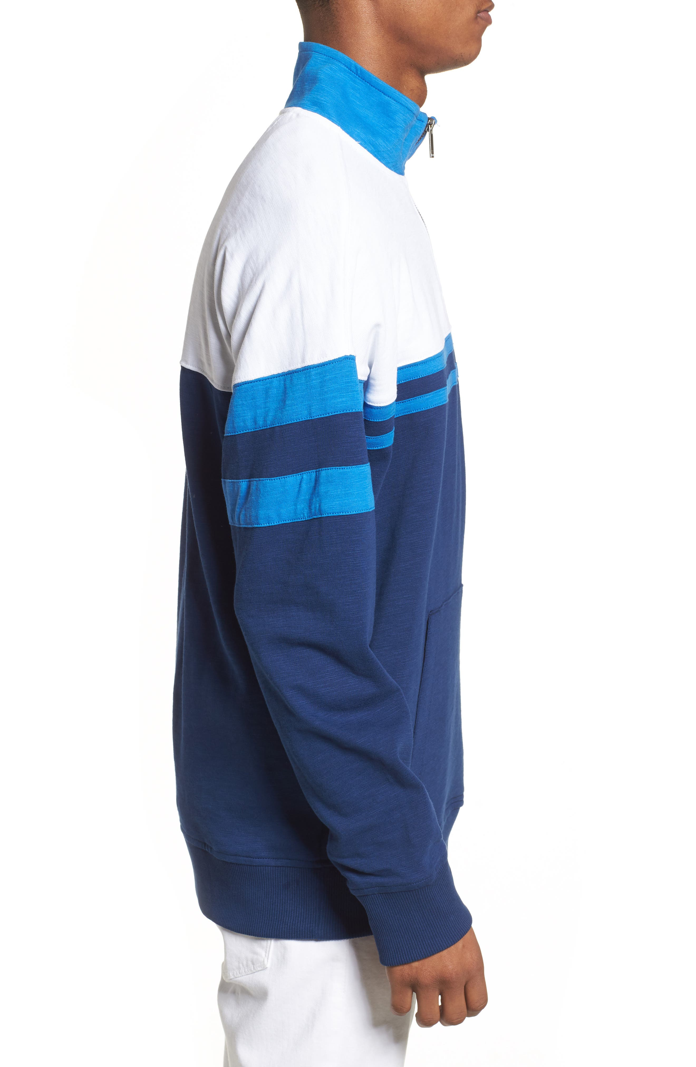 Quarter-Zip Rugby Shirt,                             Alternate thumbnail 3, color,                             Night Rider