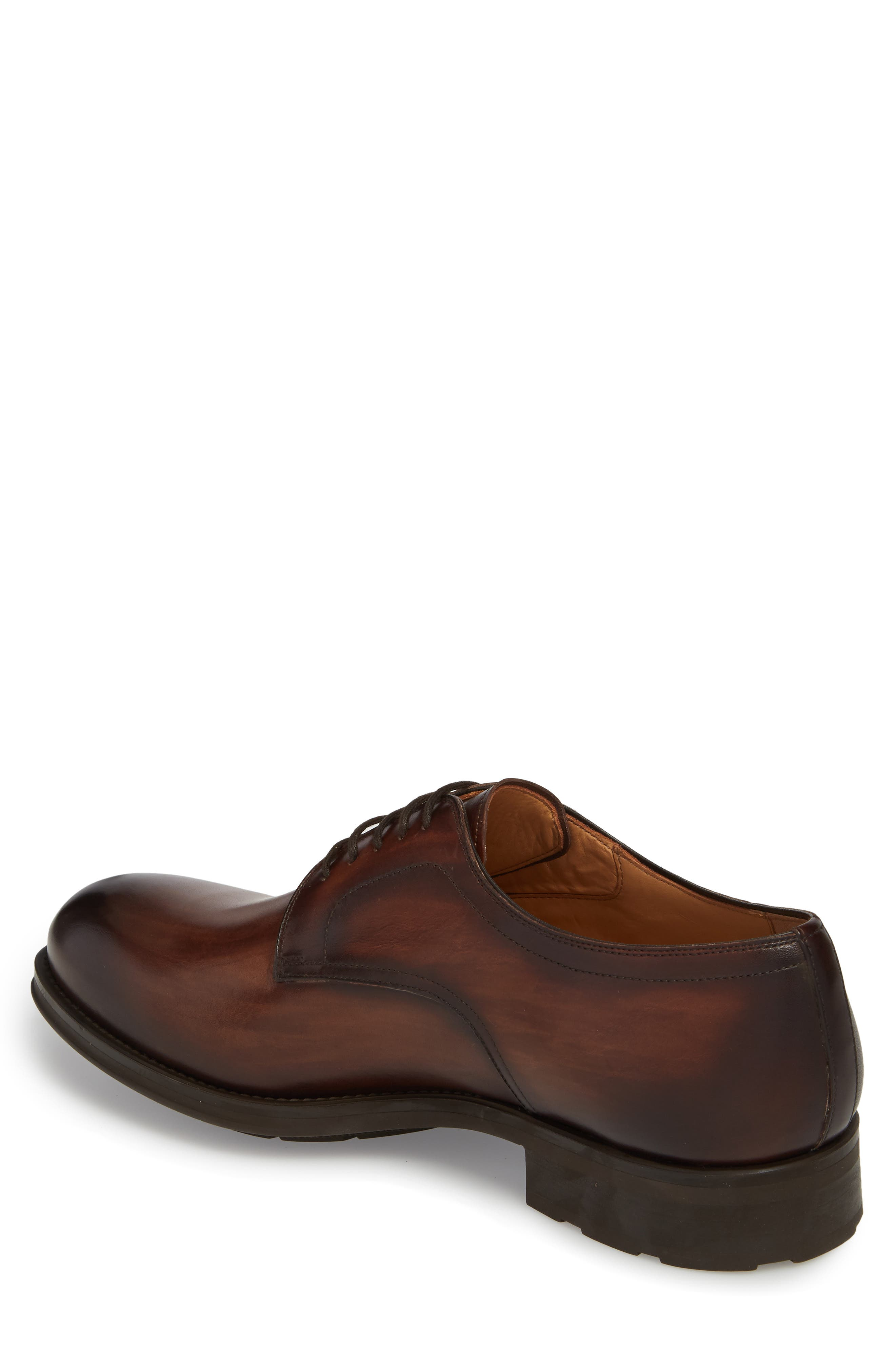 Solano Plain Toe Derby,                             Alternate thumbnail 2, color,                             Brown Leather