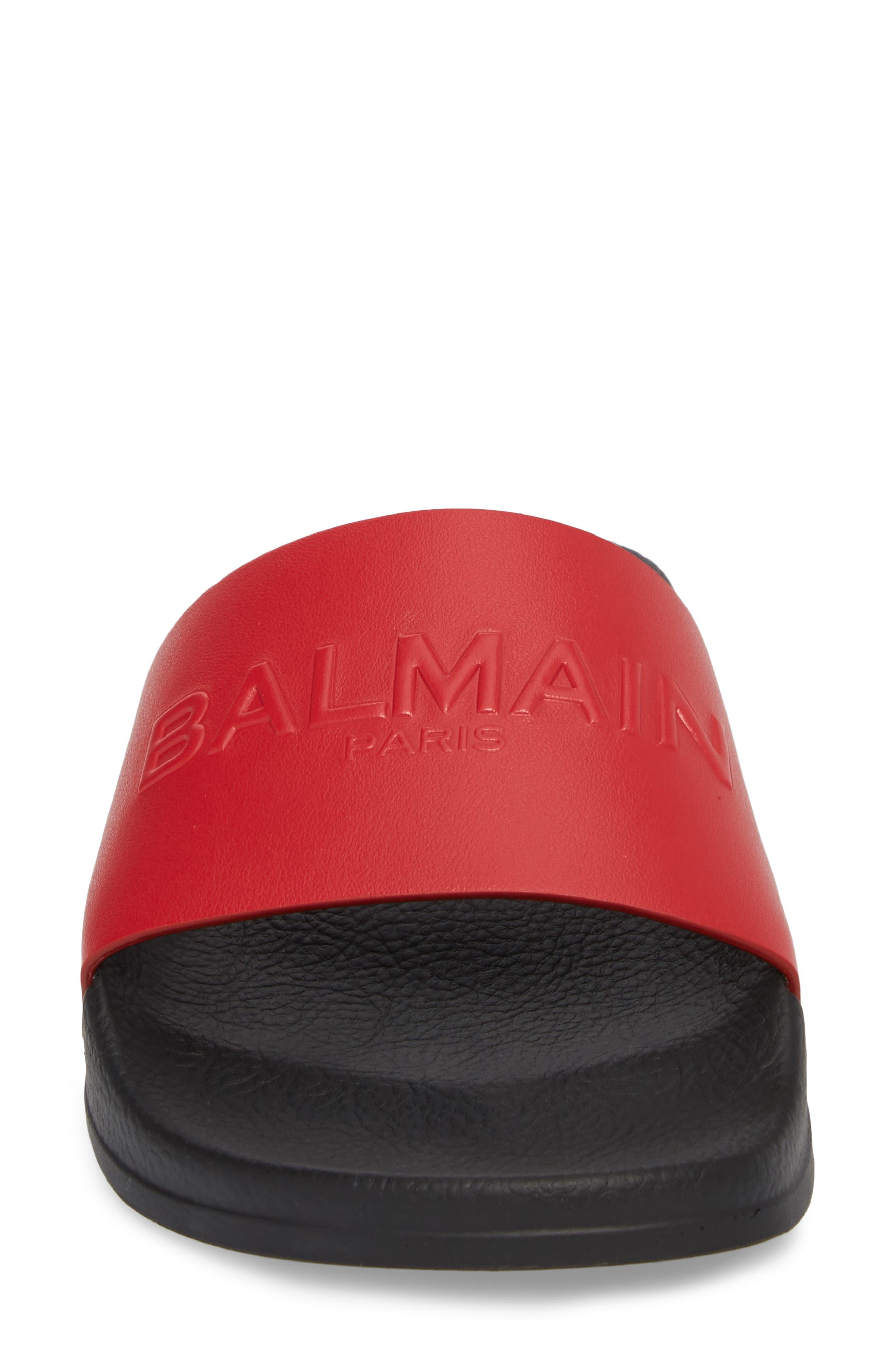 Alternate Image 4  - Balmain Calypso Logo Strap Slide Sandal (Women)