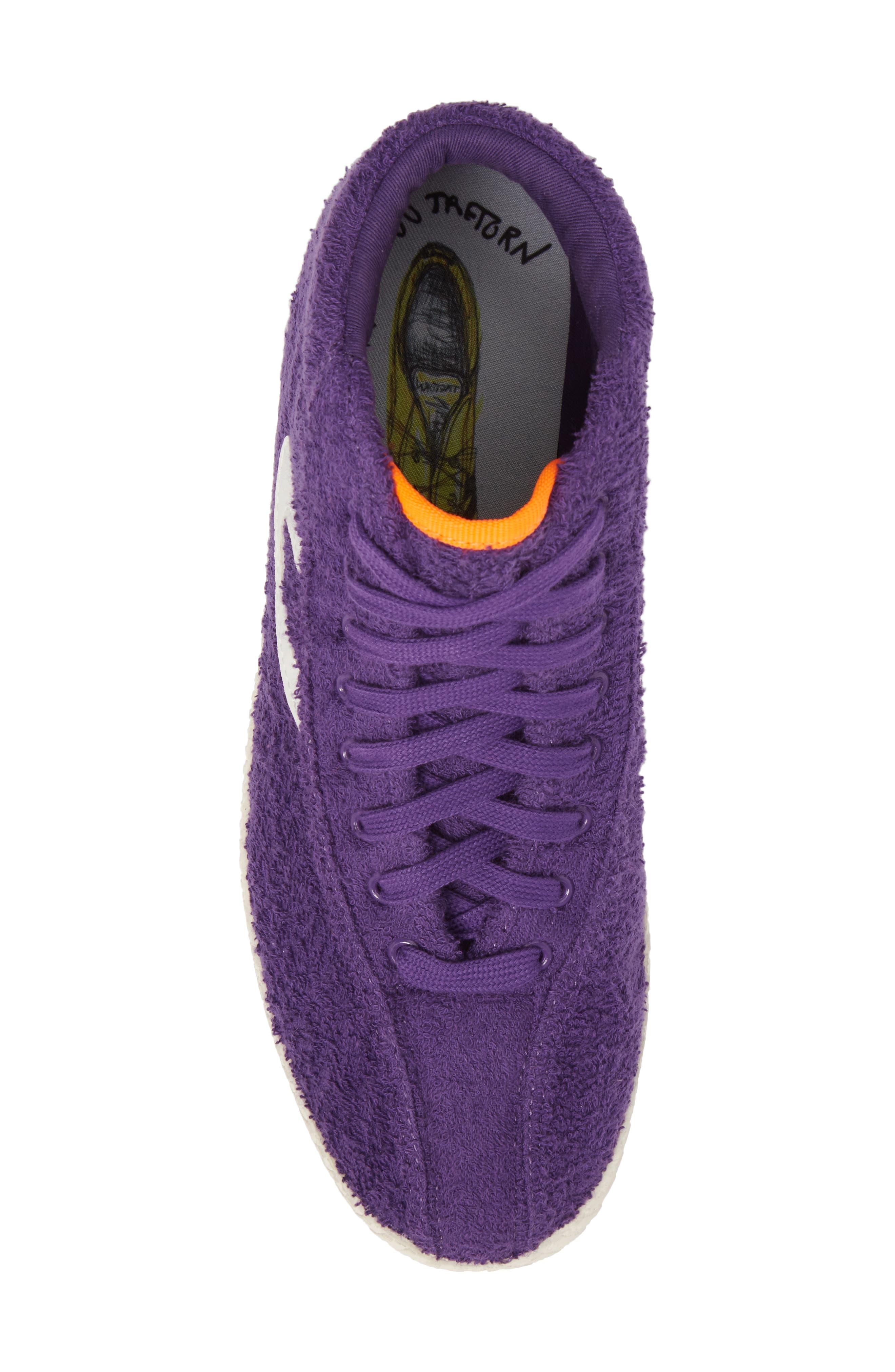 Andre 3000 Nylite High Top Sneaker,                             Alternate thumbnail 5, color,                             Vibrant Purple/ Vintage White