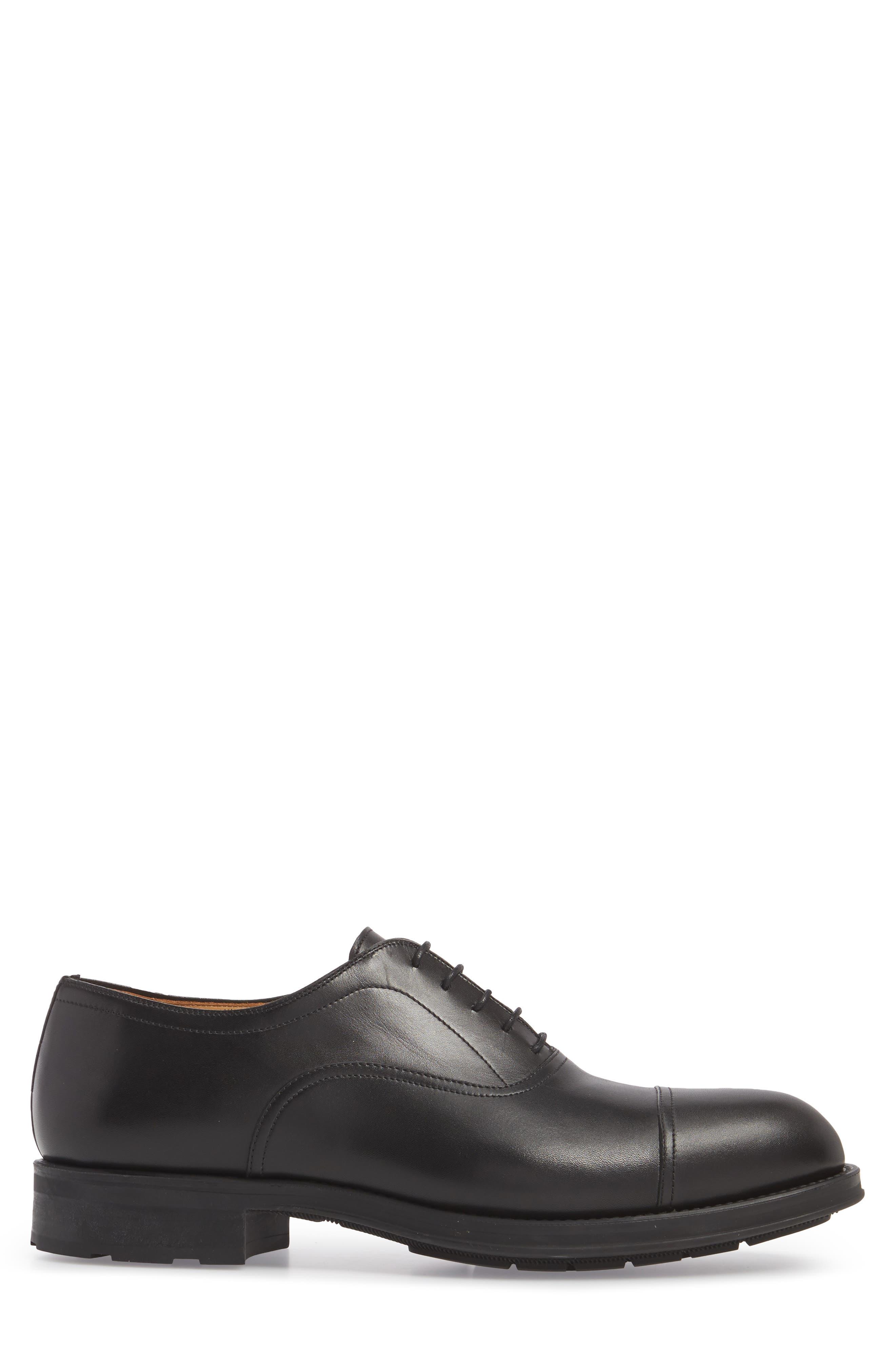 Tadeo Cap Toe Oxford,                             Alternate thumbnail 3, color,                             Black Leather
