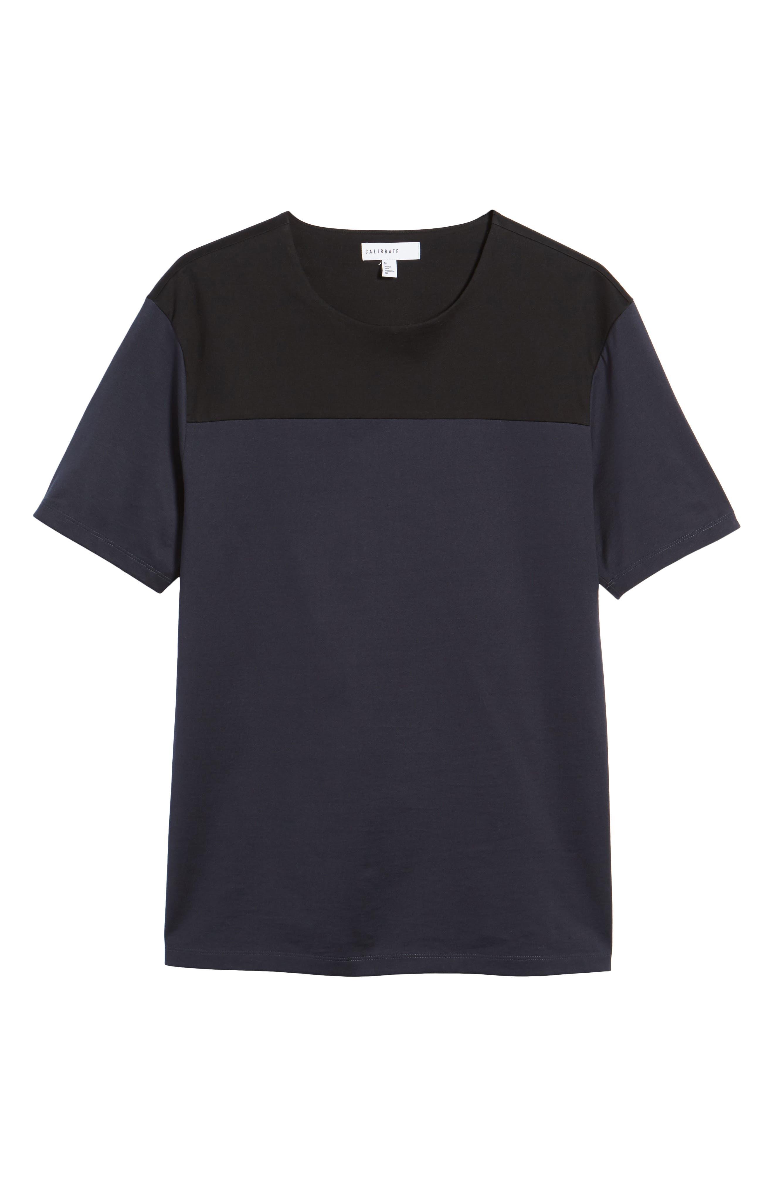 Block Crewneck T-Shirt,                             Alternate thumbnail 6, color,                             Navy Night Block