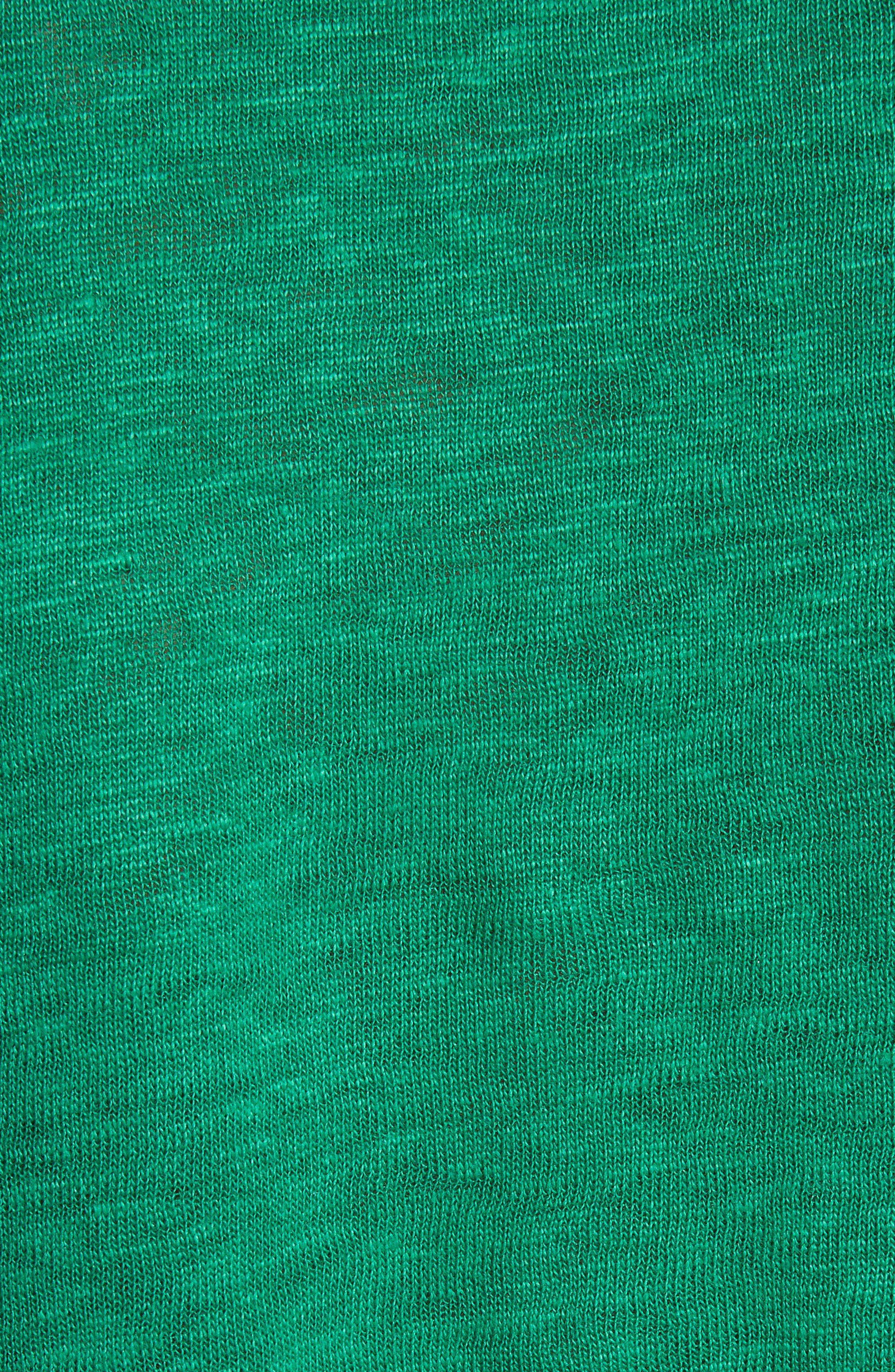 Silk & Linen Tank,                             Alternate thumbnail 5, color,                             Green