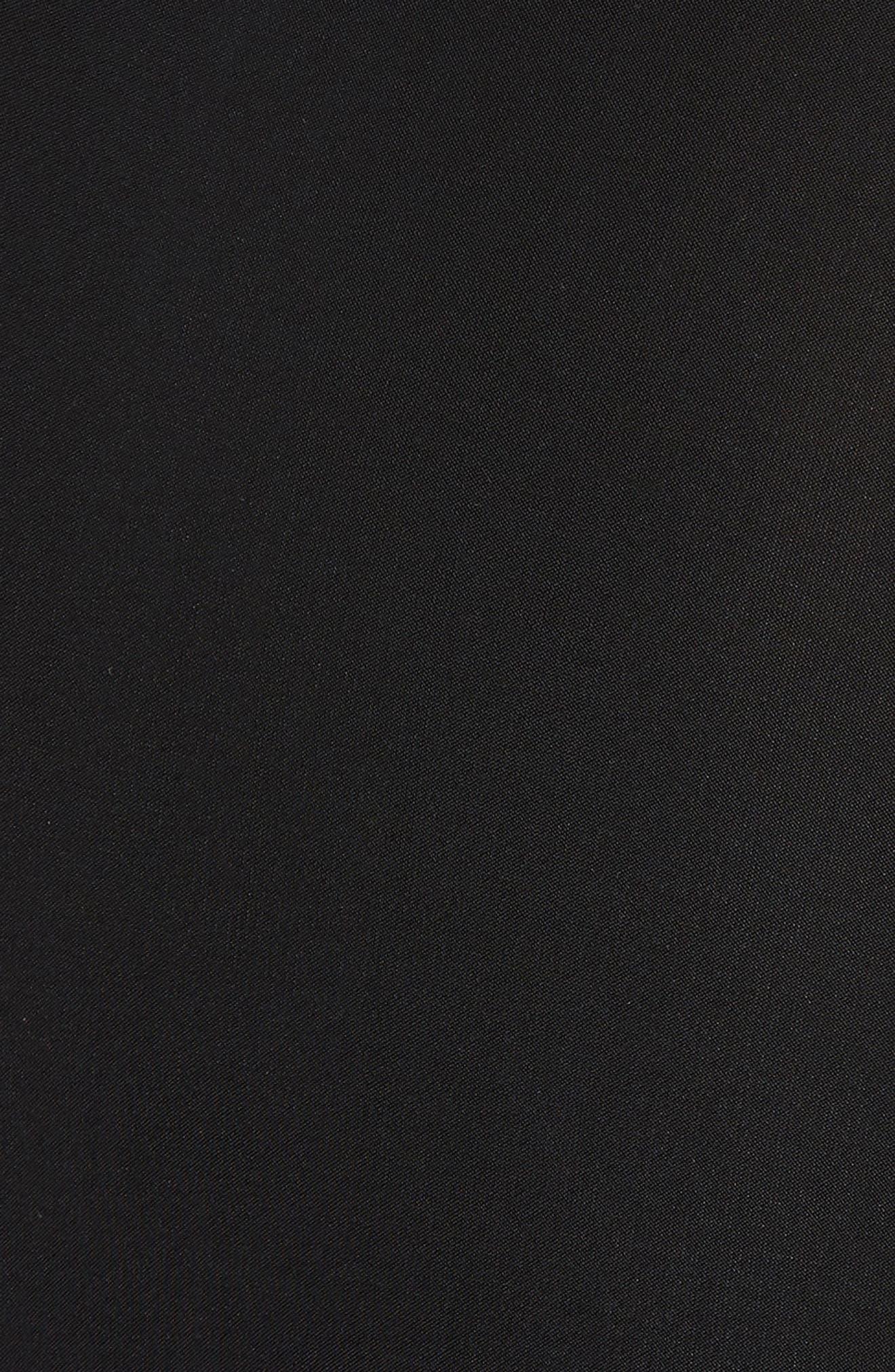 Domino Knot Maxi Dress,                             Alternate thumbnail 5, color,                             Black