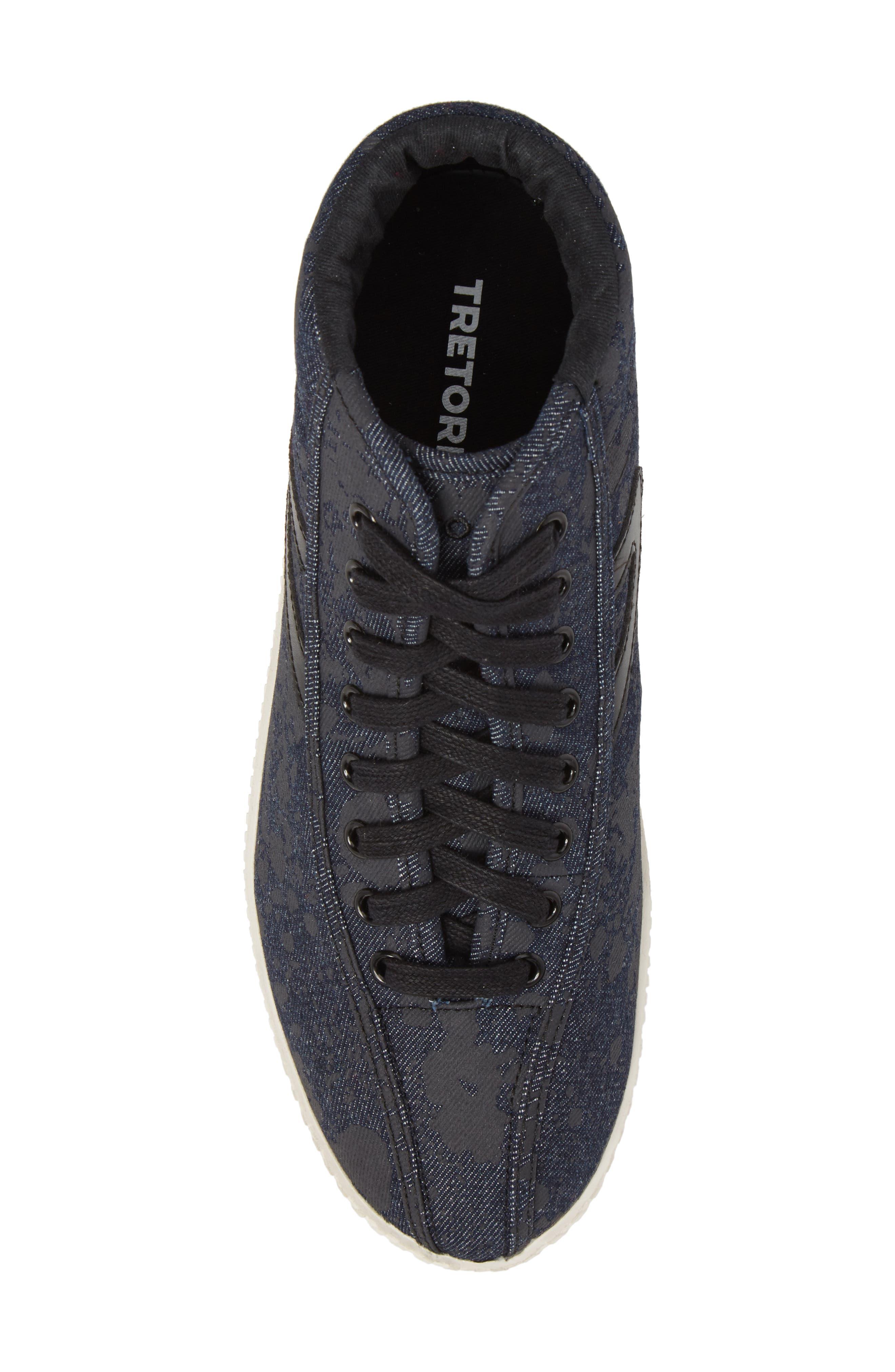 Nylite High Top Sneaker,                             Alternate thumbnail 5, color,                             Nero Opaco/ Black Denim