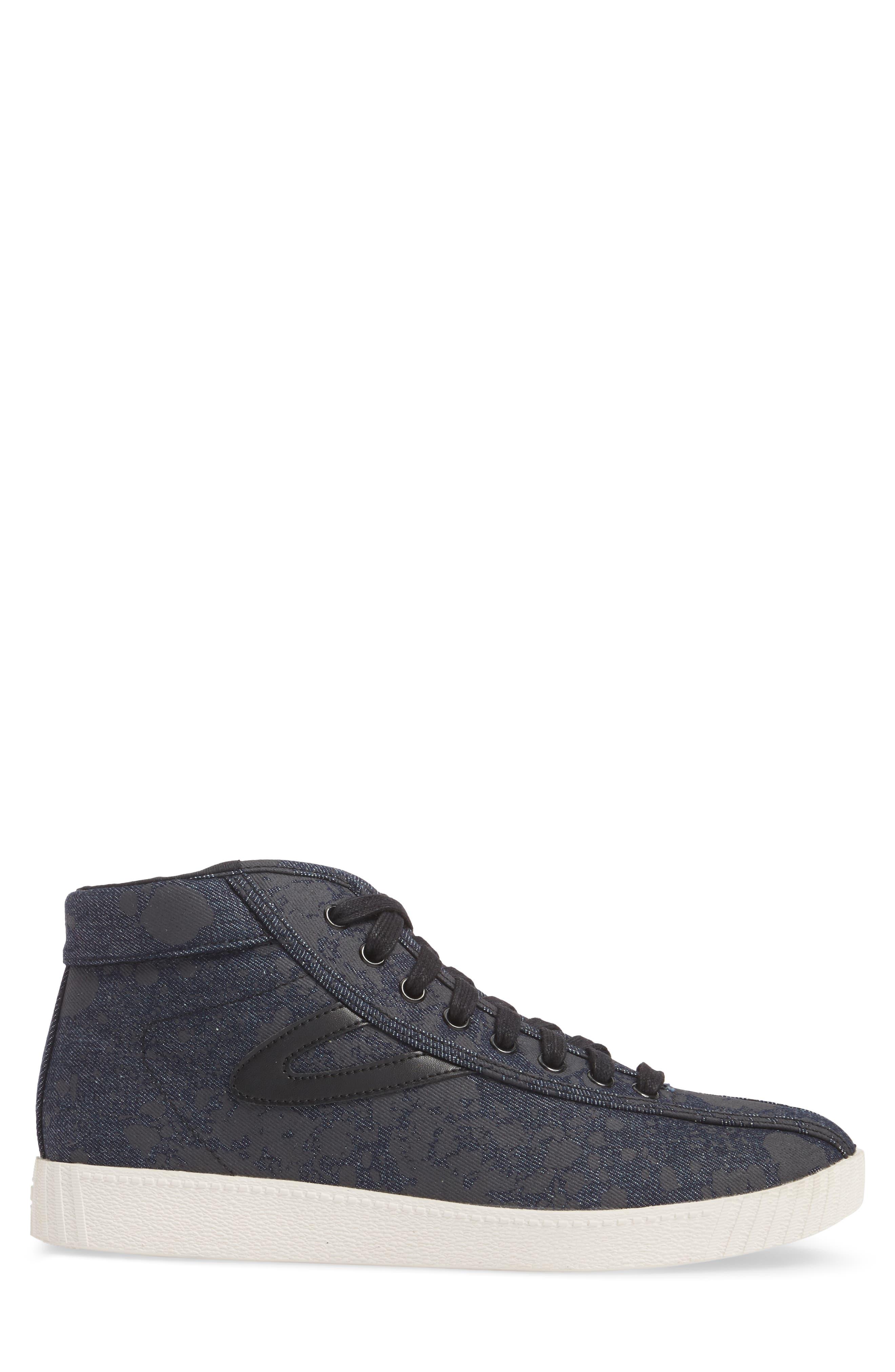 Nylite High Top Sneaker,                             Alternate thumbnail 3, color,                             Nero Opaco/ Black Denim