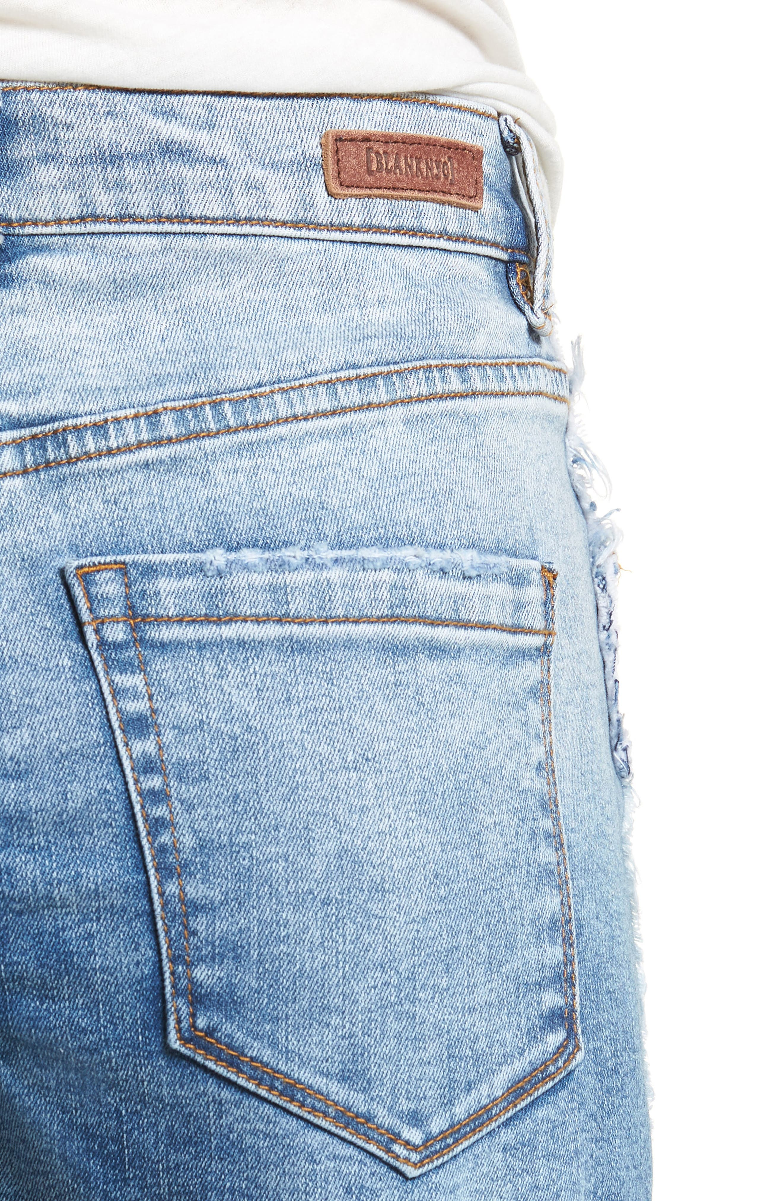 High Waist Cutoff Denim Shorts,                             Alternate thumbnail 4, color,                             Burn Notice