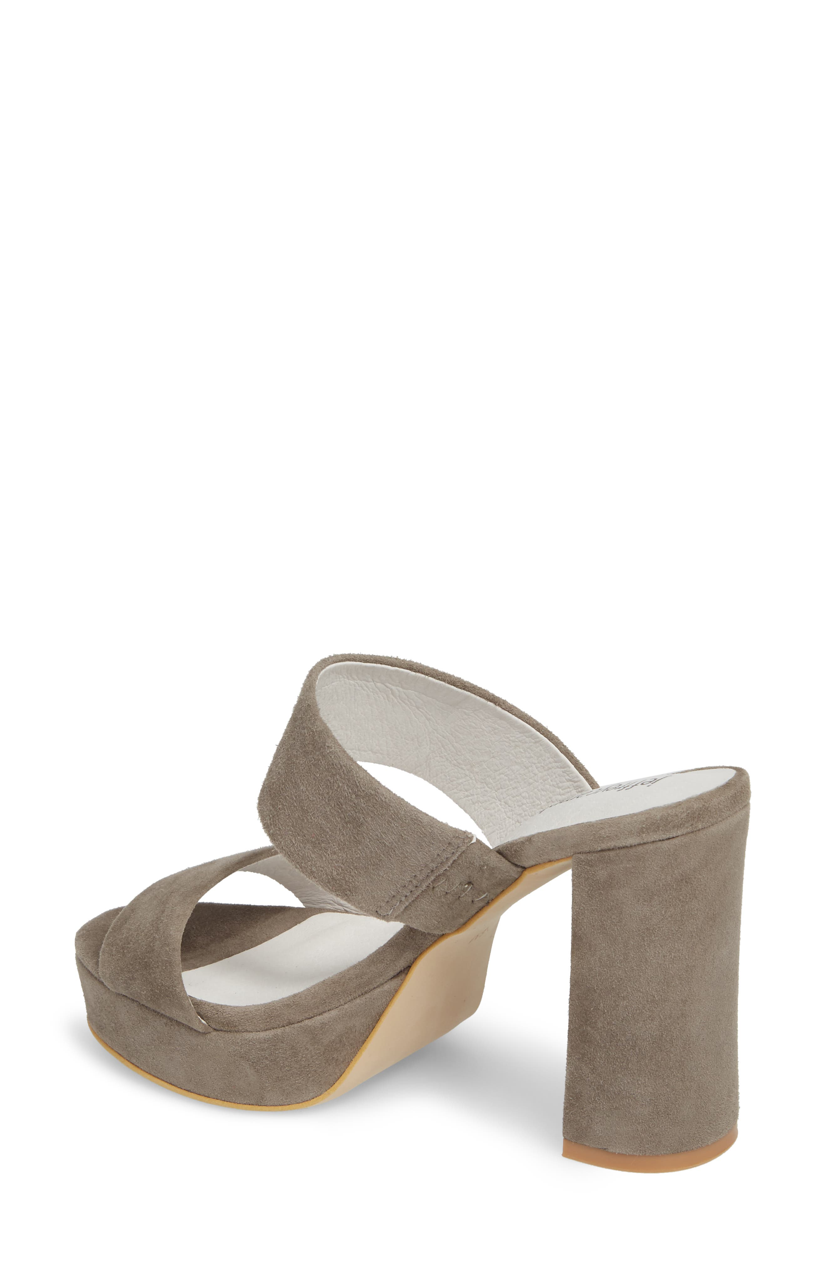 Adriana Double Band Platform Sandal,                             Alternate thumbnail 2, color,                             Grey Suede