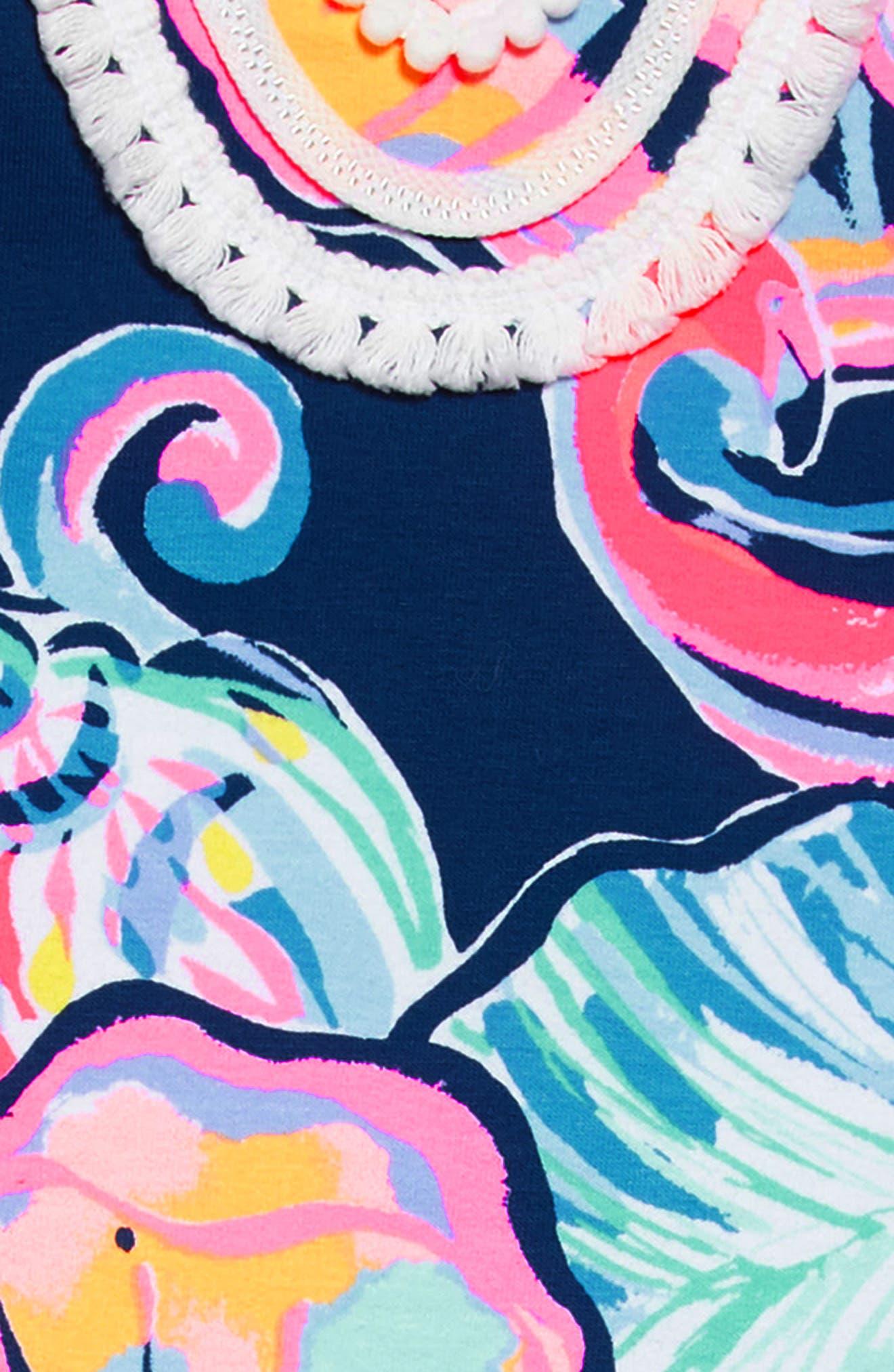 Mini Harper Shift Dress,                             Alternate thumbnail 3, color,                             Nauti Navy Boho Bateau