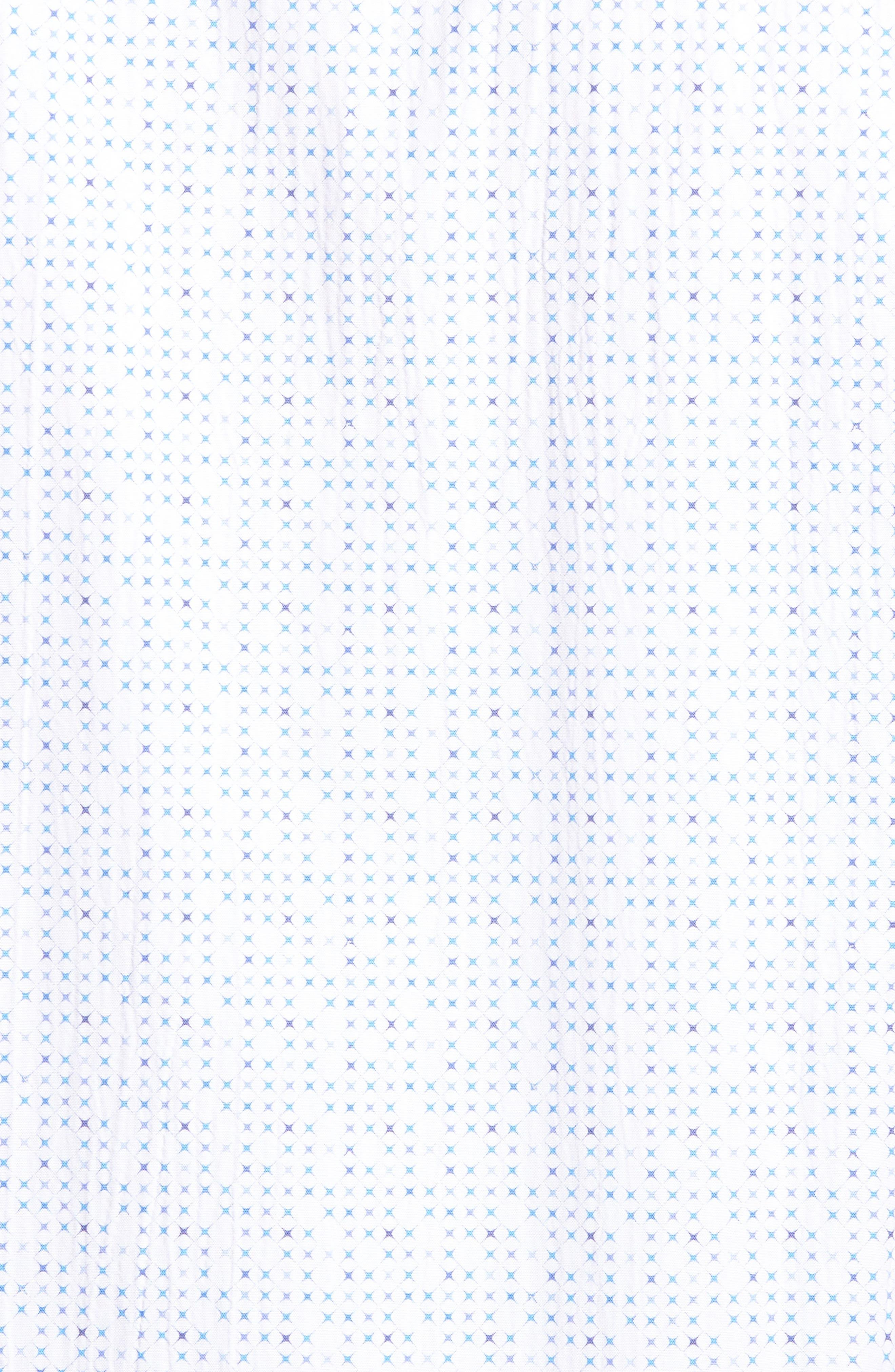 Classic Fit Petit Point Print Sport Shirt,                             Alternate thumbnail 5, color,                             White