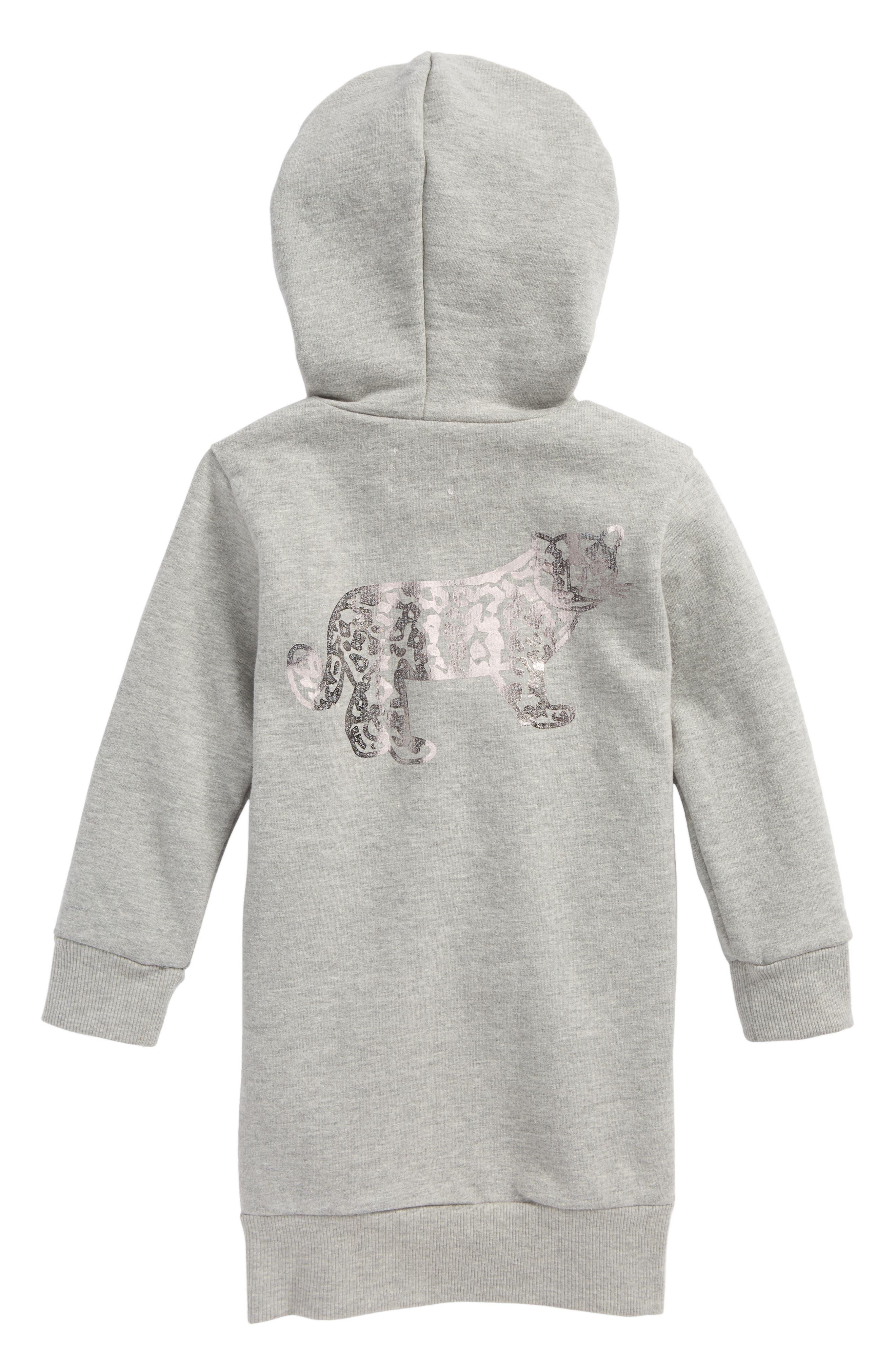 Alternate Image 2  - Beru Luna Hooded Sweatshirt Dress (Toddler Girls & Little Girls)