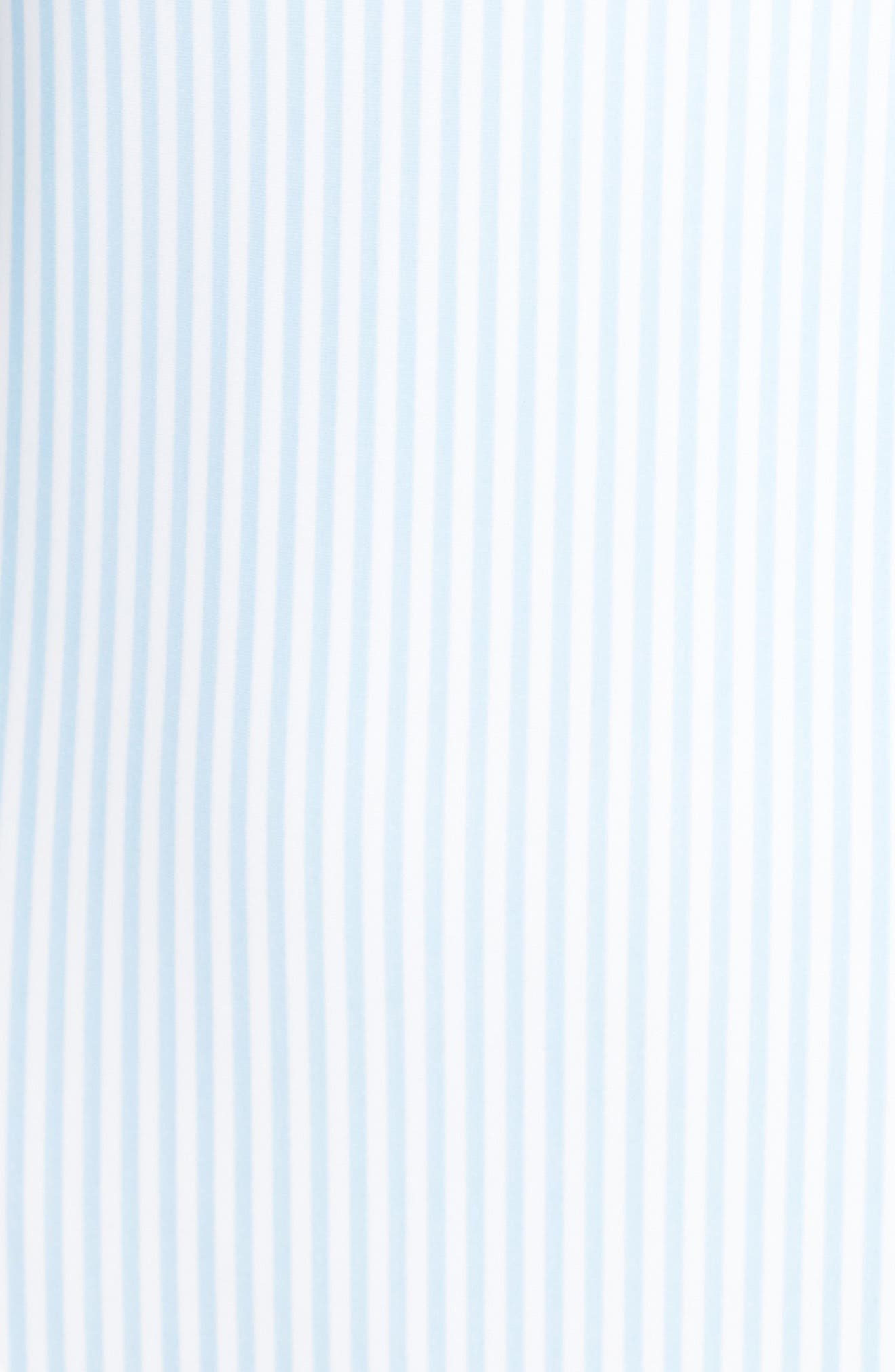 Stripe Ruffle Swimsuit,                             Alternate thumbnail 5, color,                             Pale Blue
