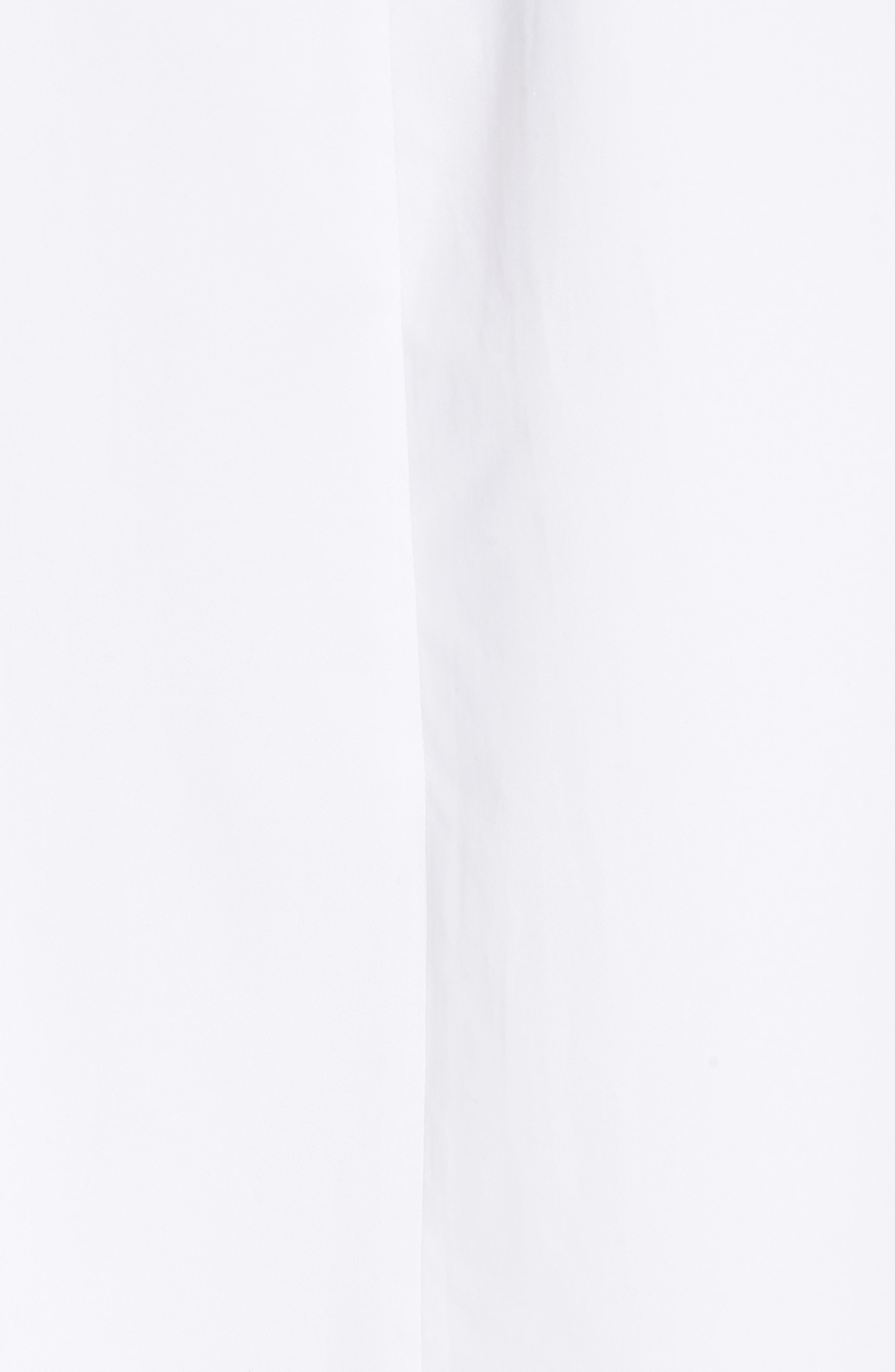 ruffle cotton poplin dress,                             Alternate thumbnail 5, color,                             Fresh White