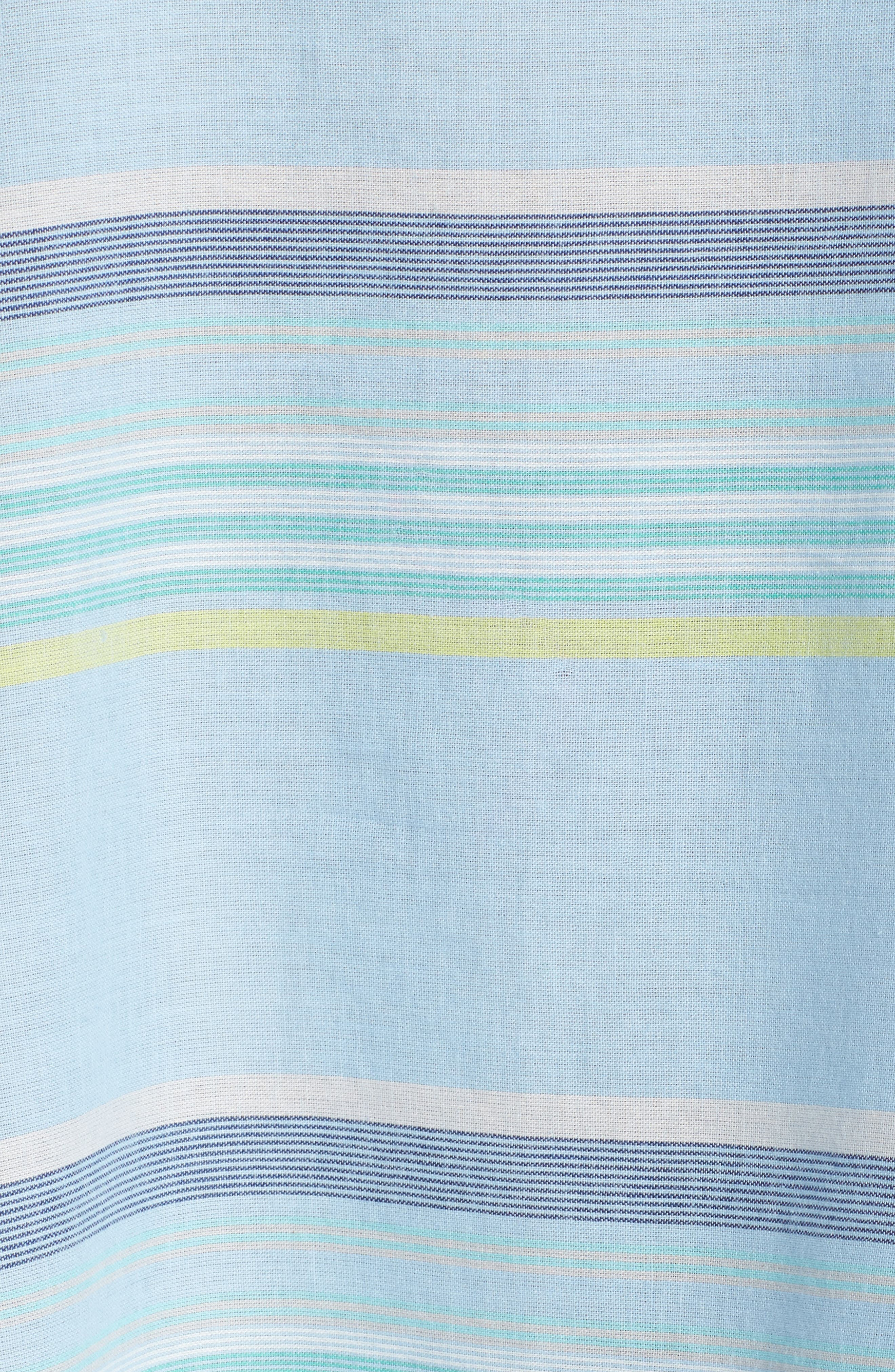 Sunset Stripe Cover-Up Dress,                             Alternate thumbnail 5, color,                             Sky Blue