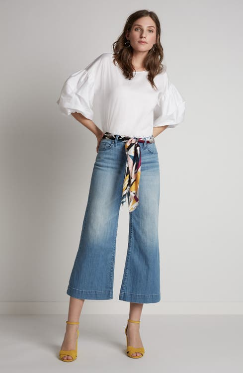 Main Image - Halogen® Wide Leg Cropped Jeans (Regular & Petite) (Modern)