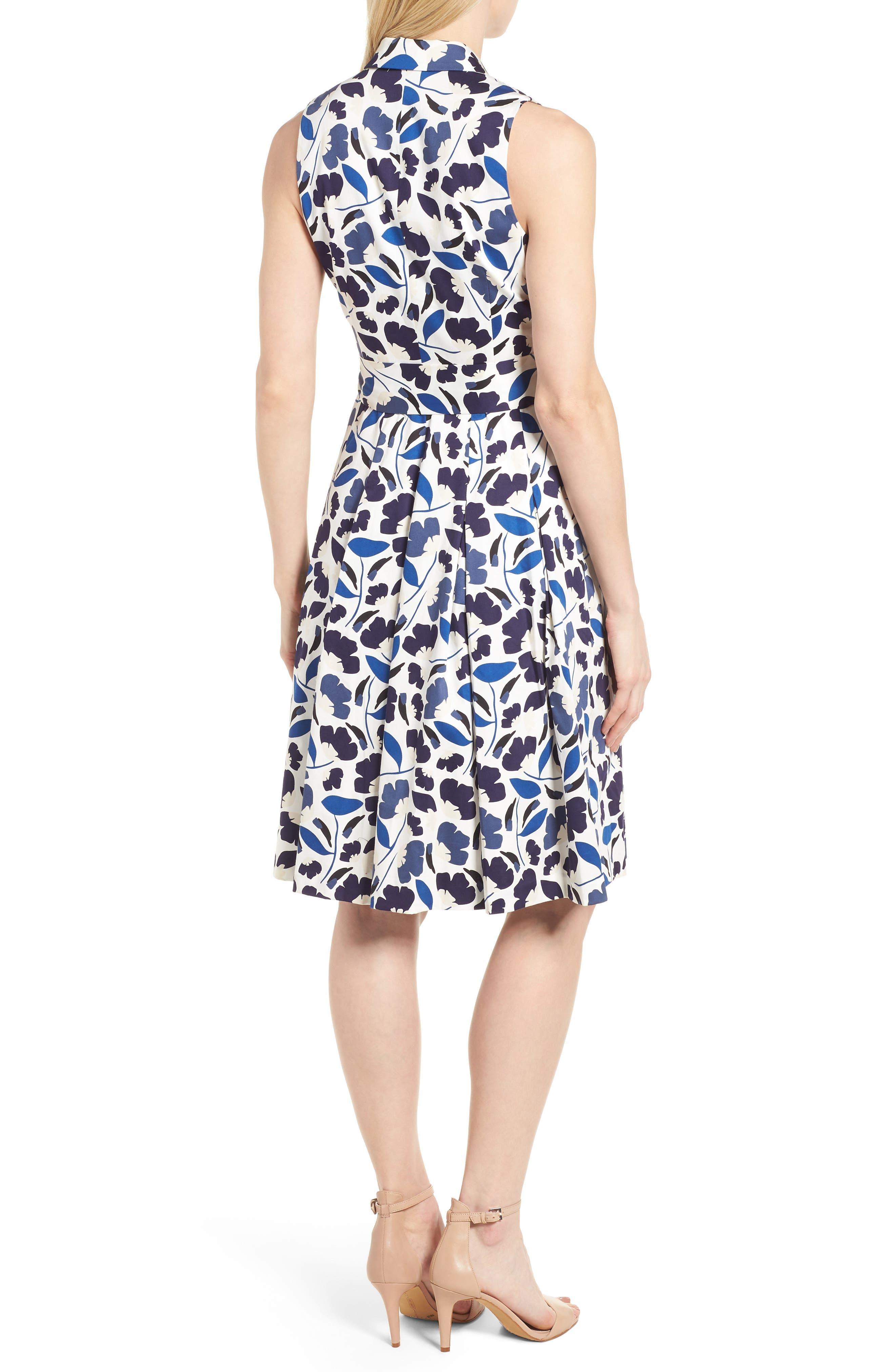 New York Humboldt Cotton Sateen Dress,                             Alternate thumbnail 2, color,                             Monaco Combo