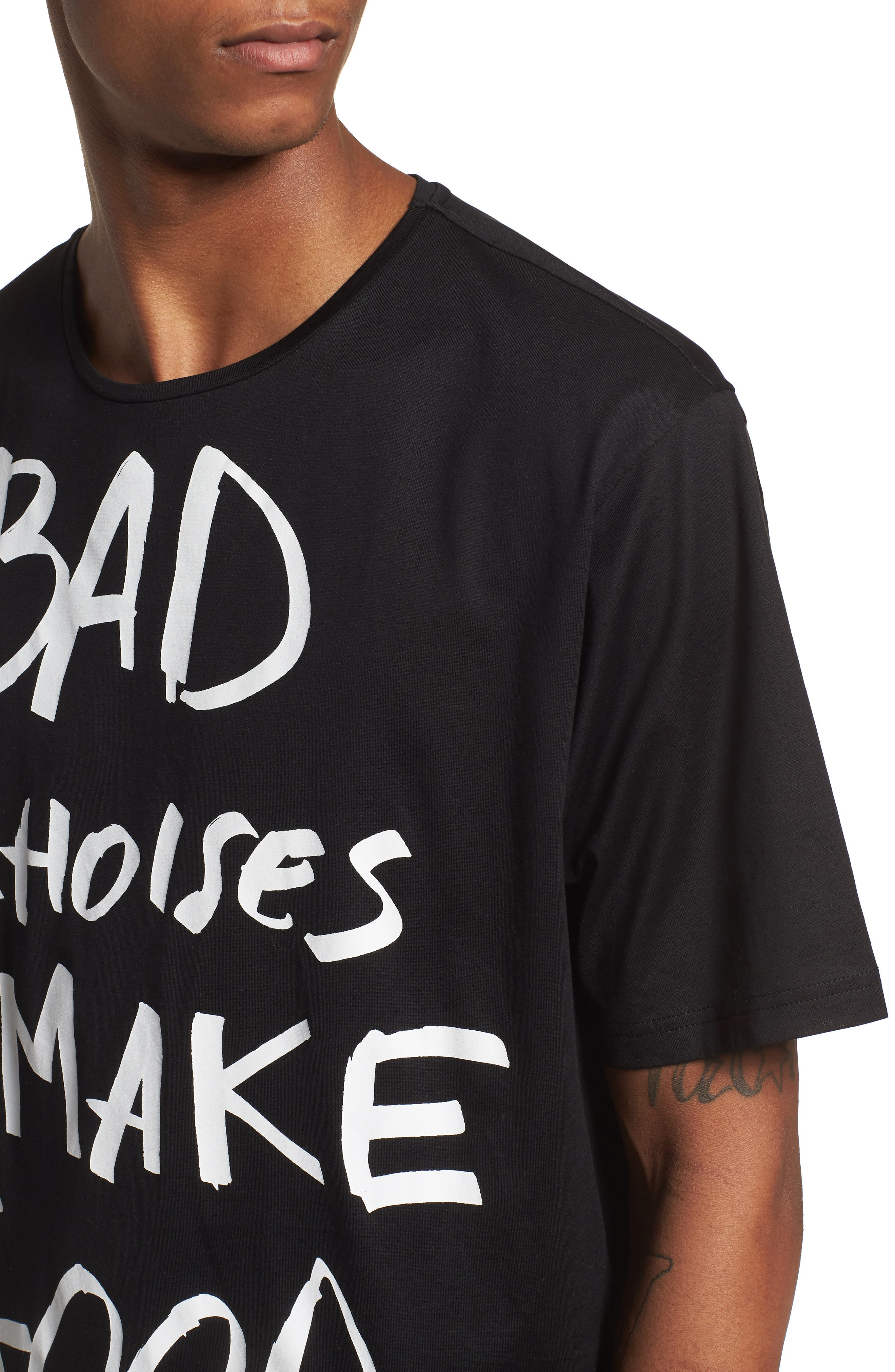 Bad Choices Graphic T-Shirt,                             Alternate thumbnail 4, color,                             Black