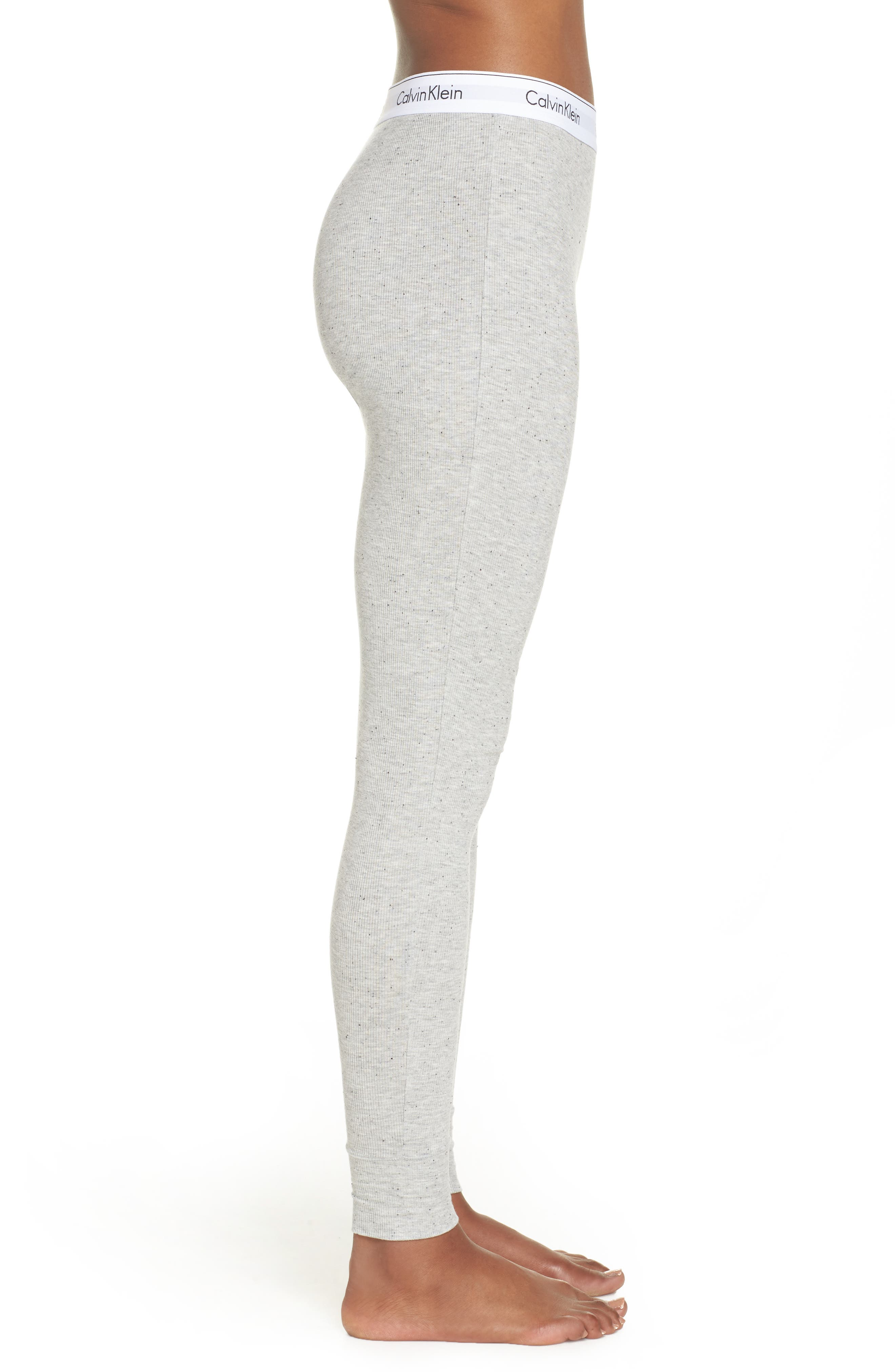 Lounge Leggings,                             Alternate thumbnail 3, color,                             Graphic Rib Grey Heather