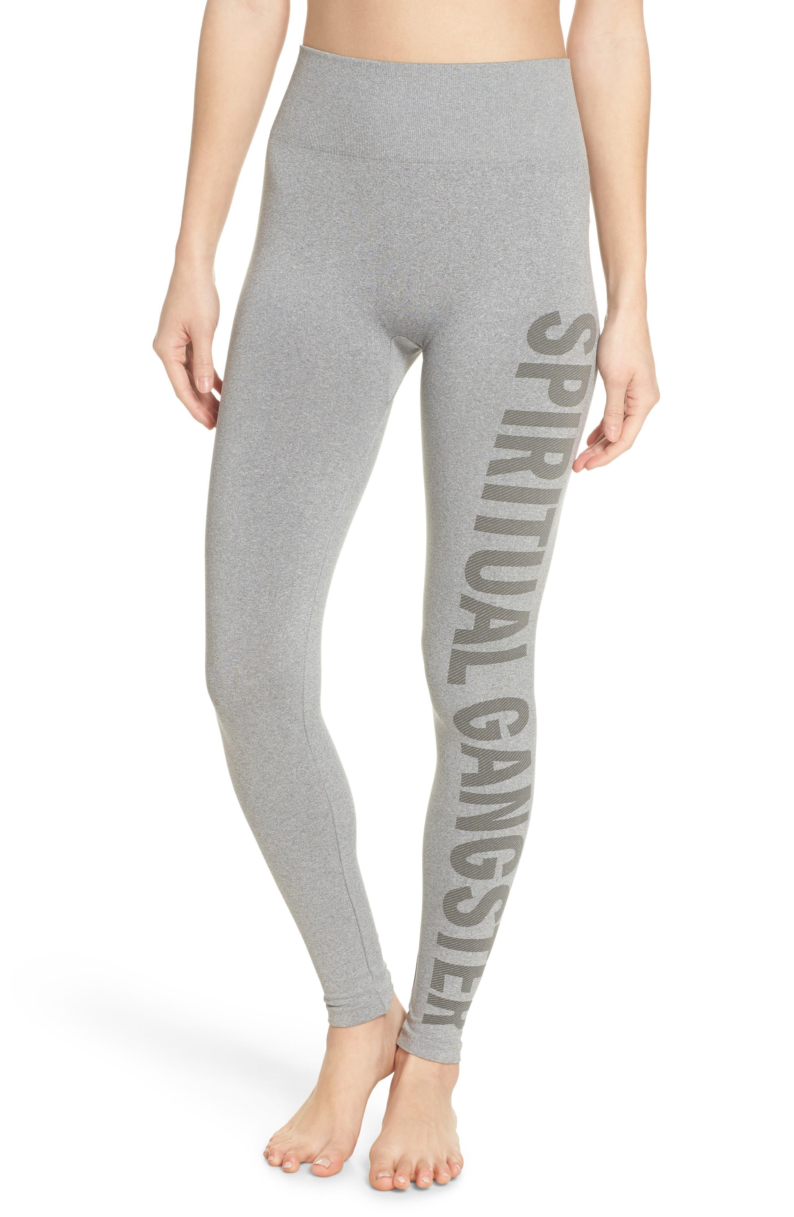 Seamless High Waist Leggings,                         Main,                         color, Htr Grey