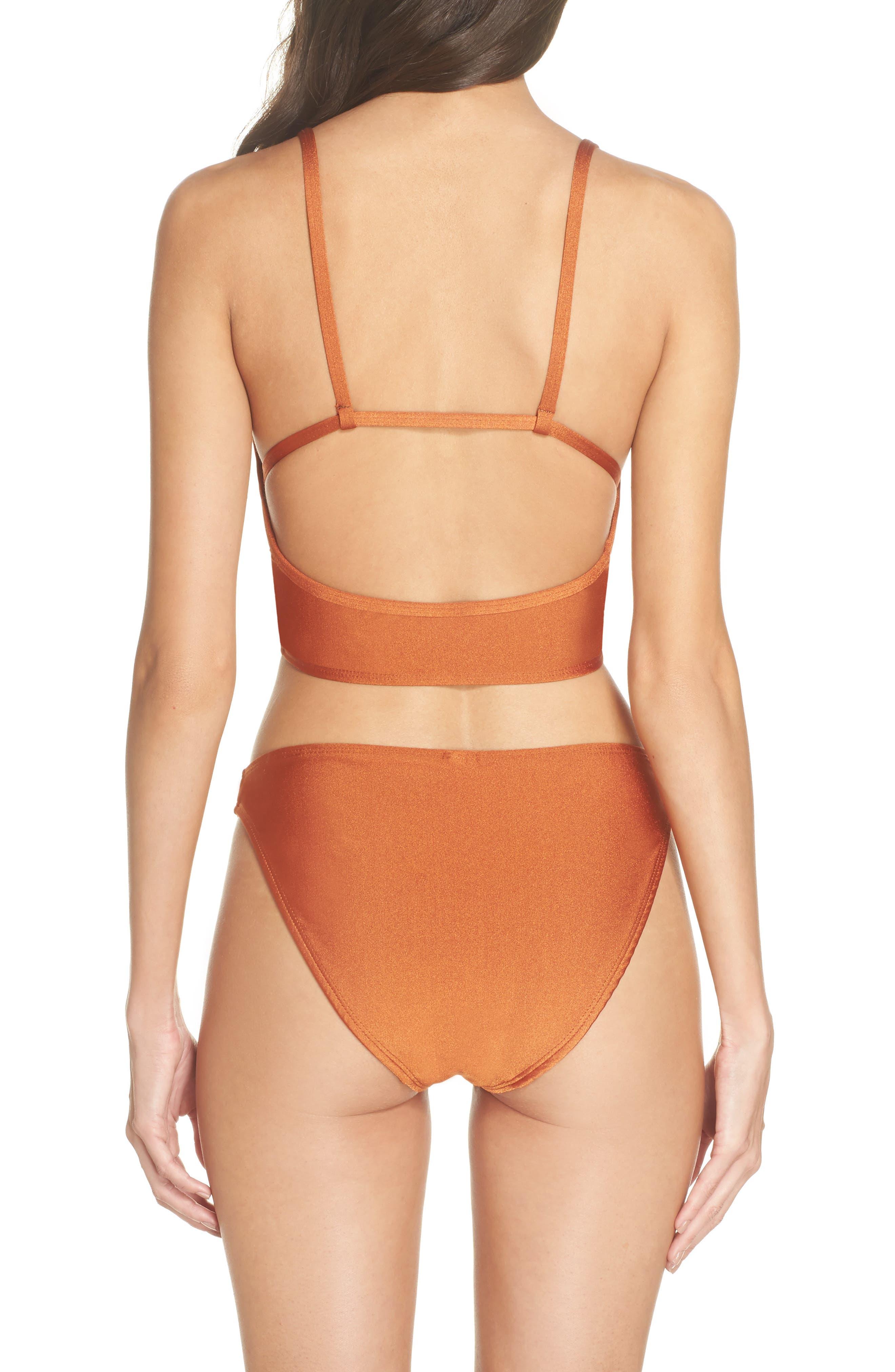 Horizon Bikini Top,                             Alternate thumbnail 6, color,                             Ginger Orange